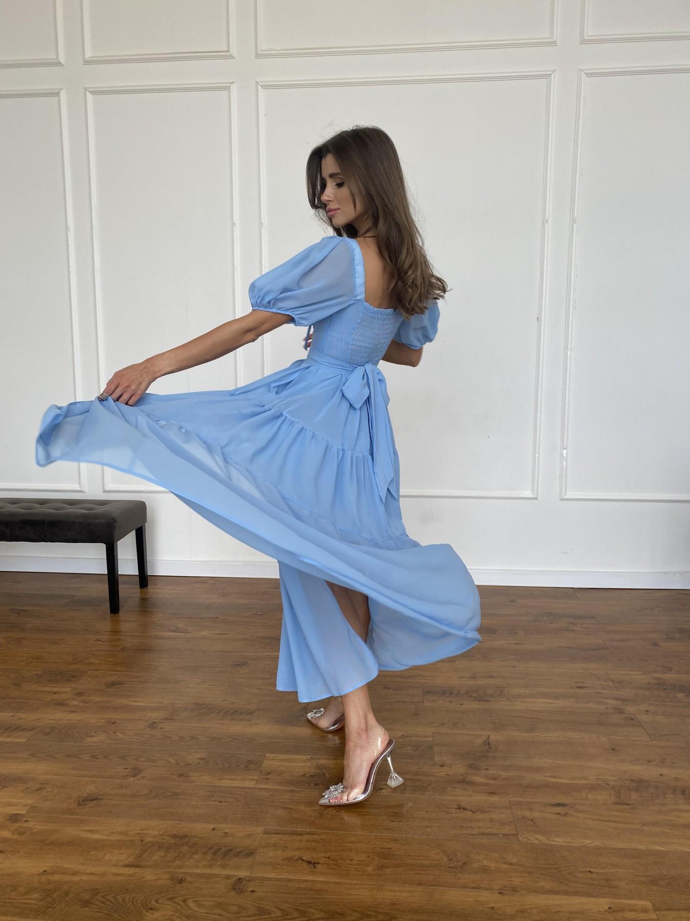 Сейшелы платье креп шифон 11519 АРТ. 48250 Цвет: Голубой 029 - фото 1, интернет магазин tm-modus.ru