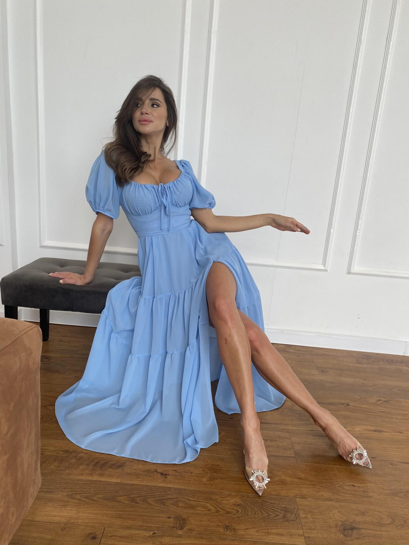 Сейшелы платье креп шифон 11519 АРТ. 48250 Цвет: Голубой 029 - фото 2, интернет магазин tm-modus.ru