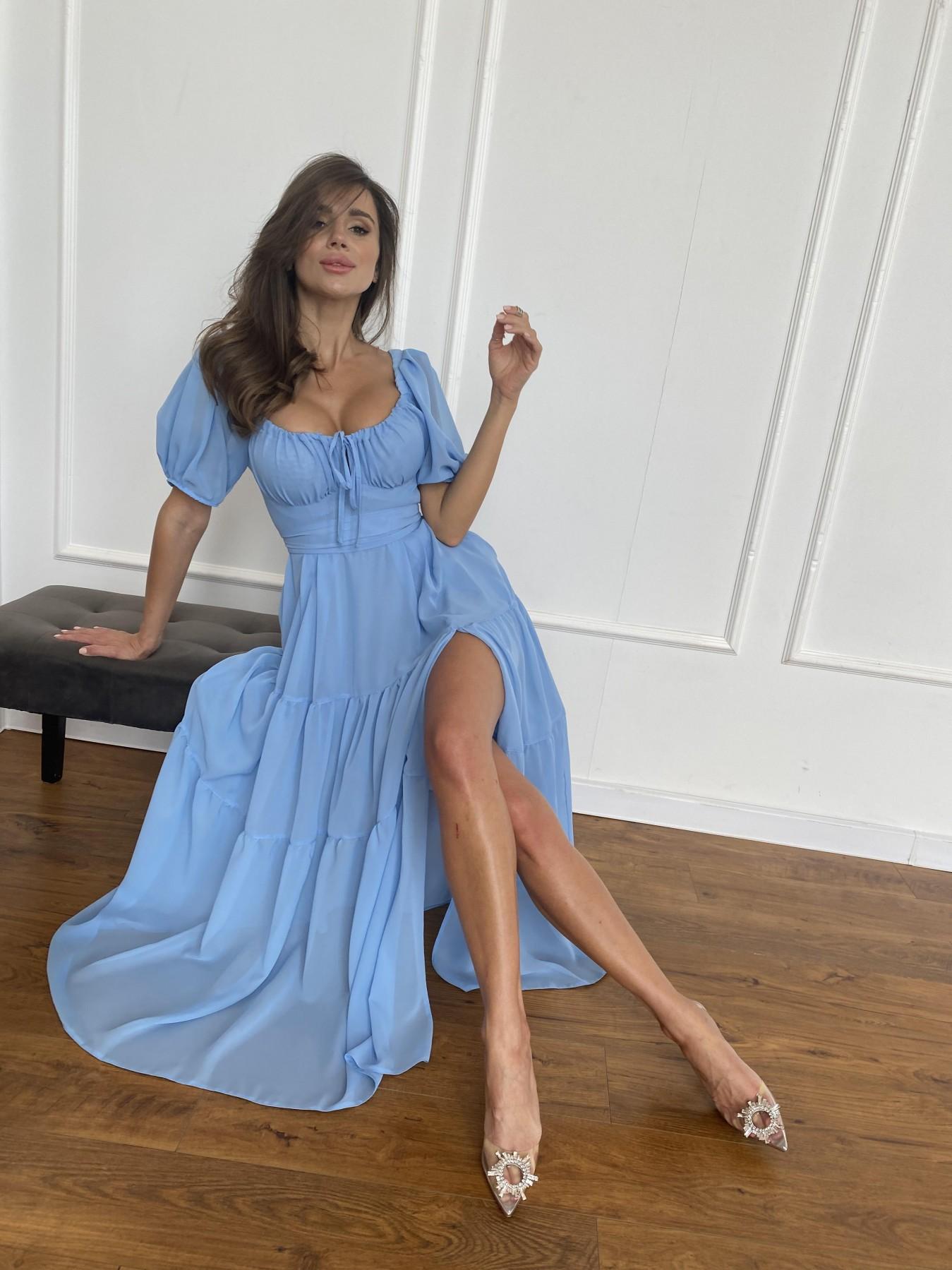 Сейшелы платье креп шифон 11519 АРТ. 48250 Цвет: Голубой 029 - фото 7, интернет магазин tm-modus.ru
