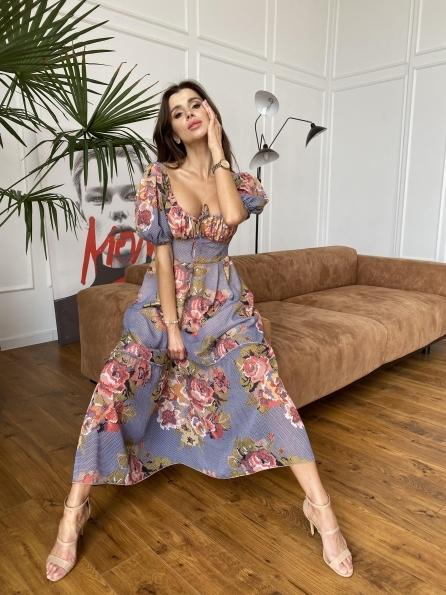 """Купити """"Лоретта"""" платье из шифона в принт 11468 оптом і в роздріб"""