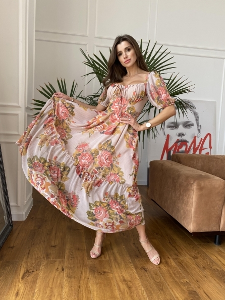 """Купить """"Лоретта"""" платье из шифона в принт 11468 оптом и в розницу"""