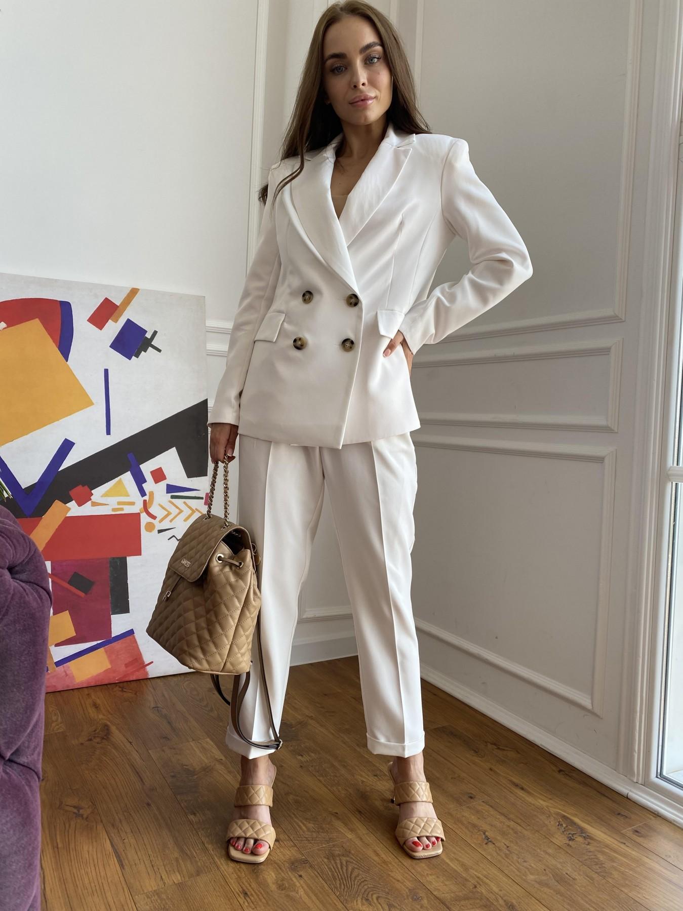 Франко деловой костюм из костюмной ткани 11090 АРТ. 47860 Цвет: Молоко 1 - фото 1, интернет магазин tm-modus.ru
