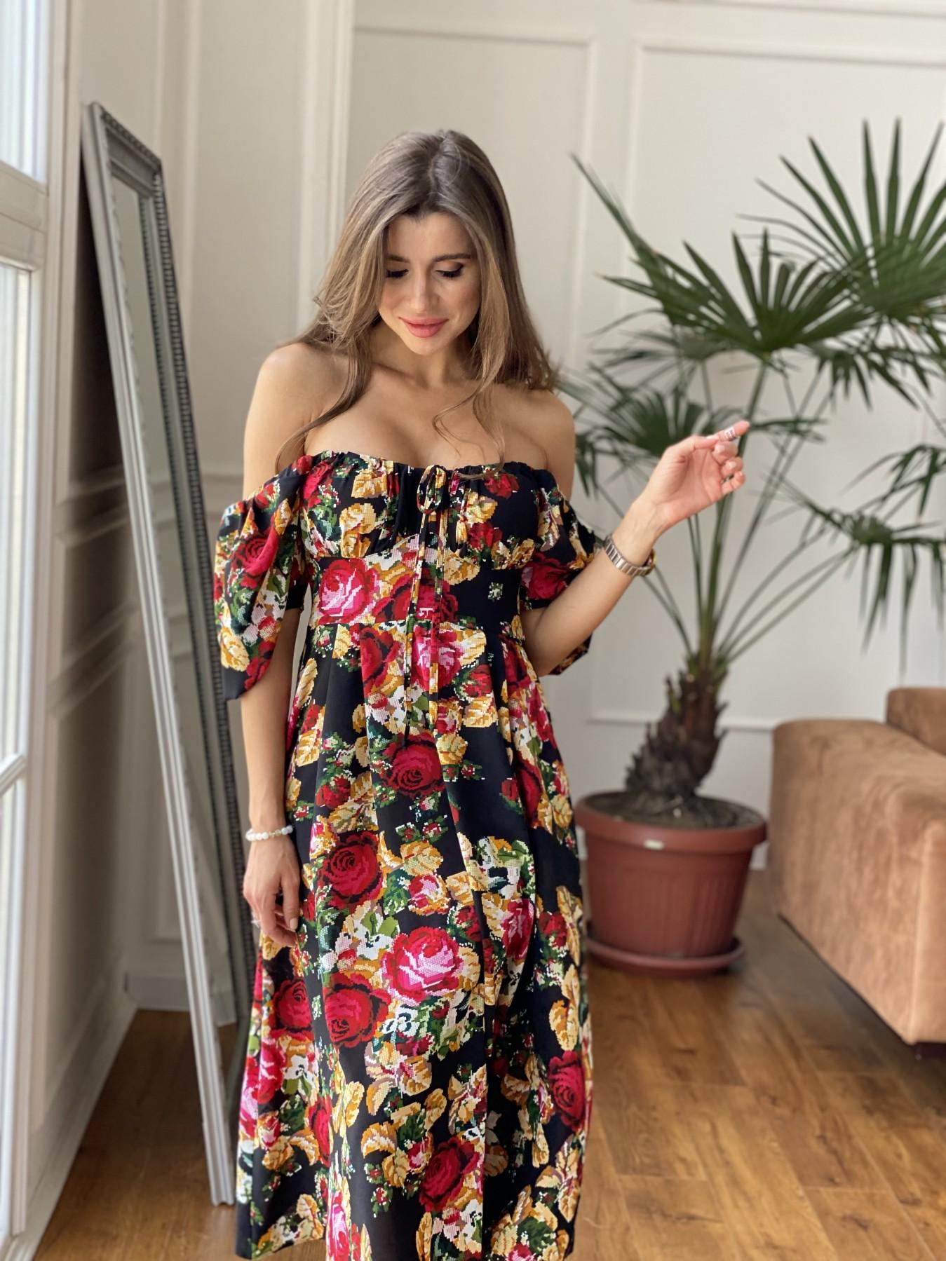 Платья Украина оптом от Модус Кисес Миди платье из креп шифона в принт 11575