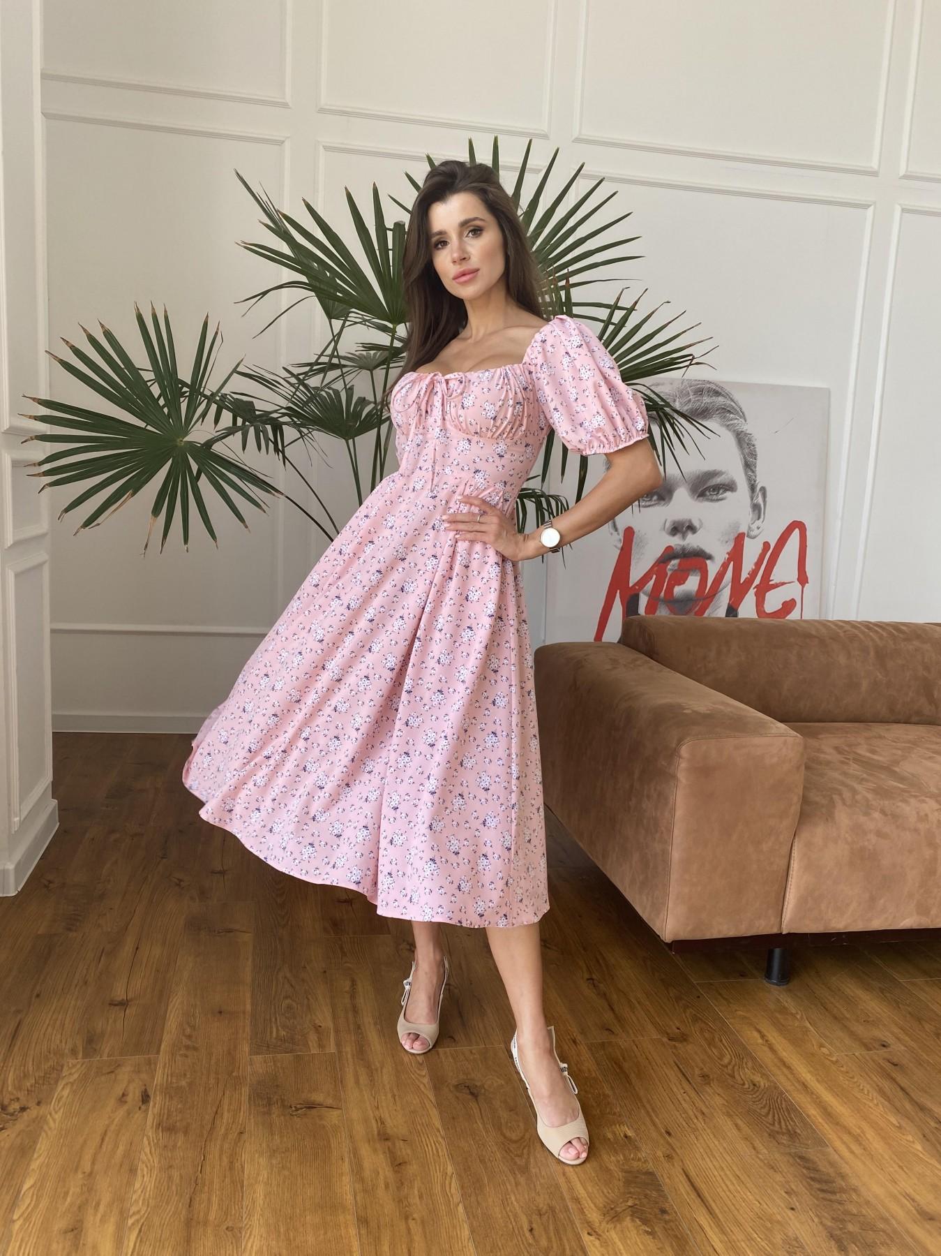 Платья оптом Кисес Миди платье из софт ткани в принт 11348
