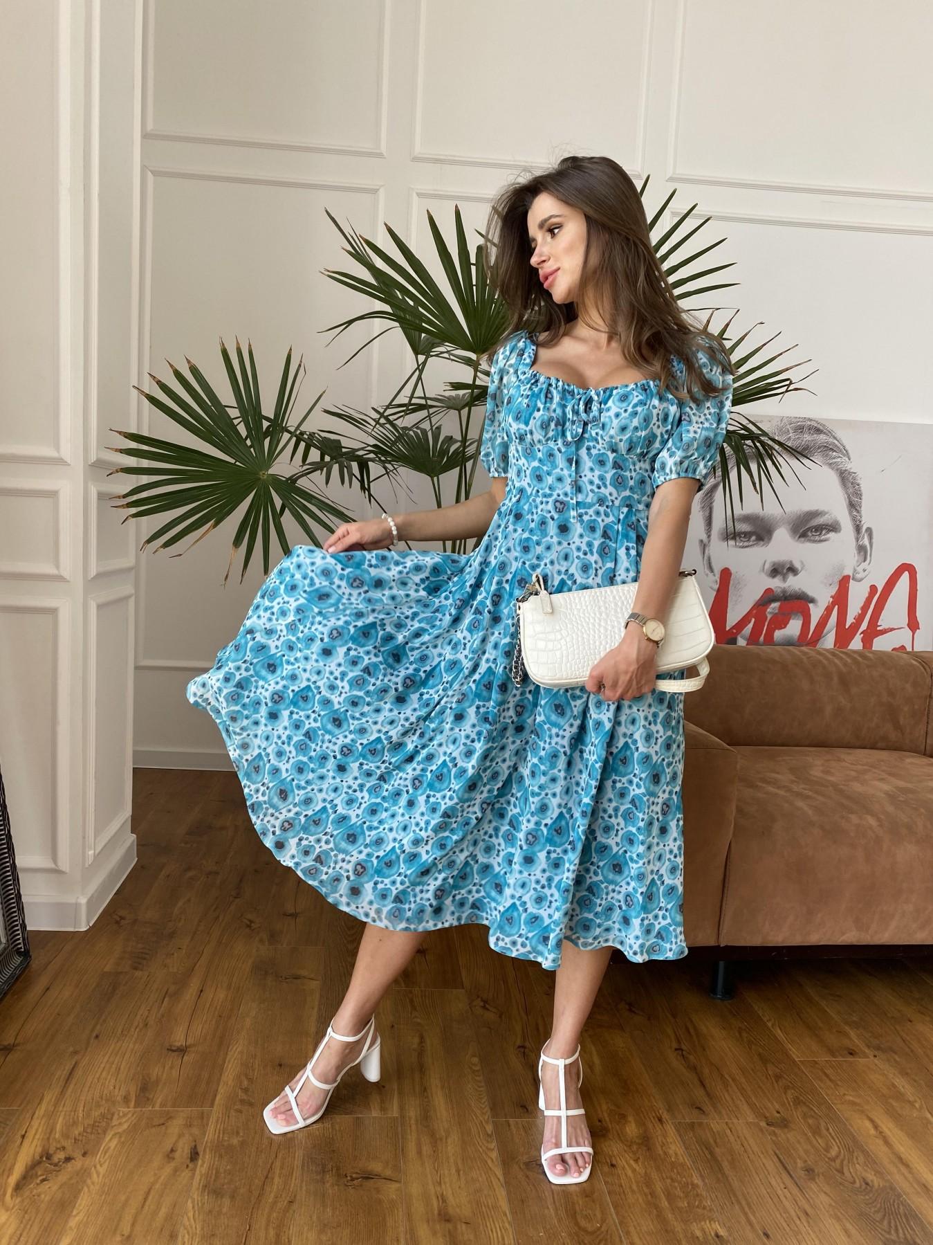 Купить платье в Украине Modus Кисес Миди платье из креп шифона в принт 11575