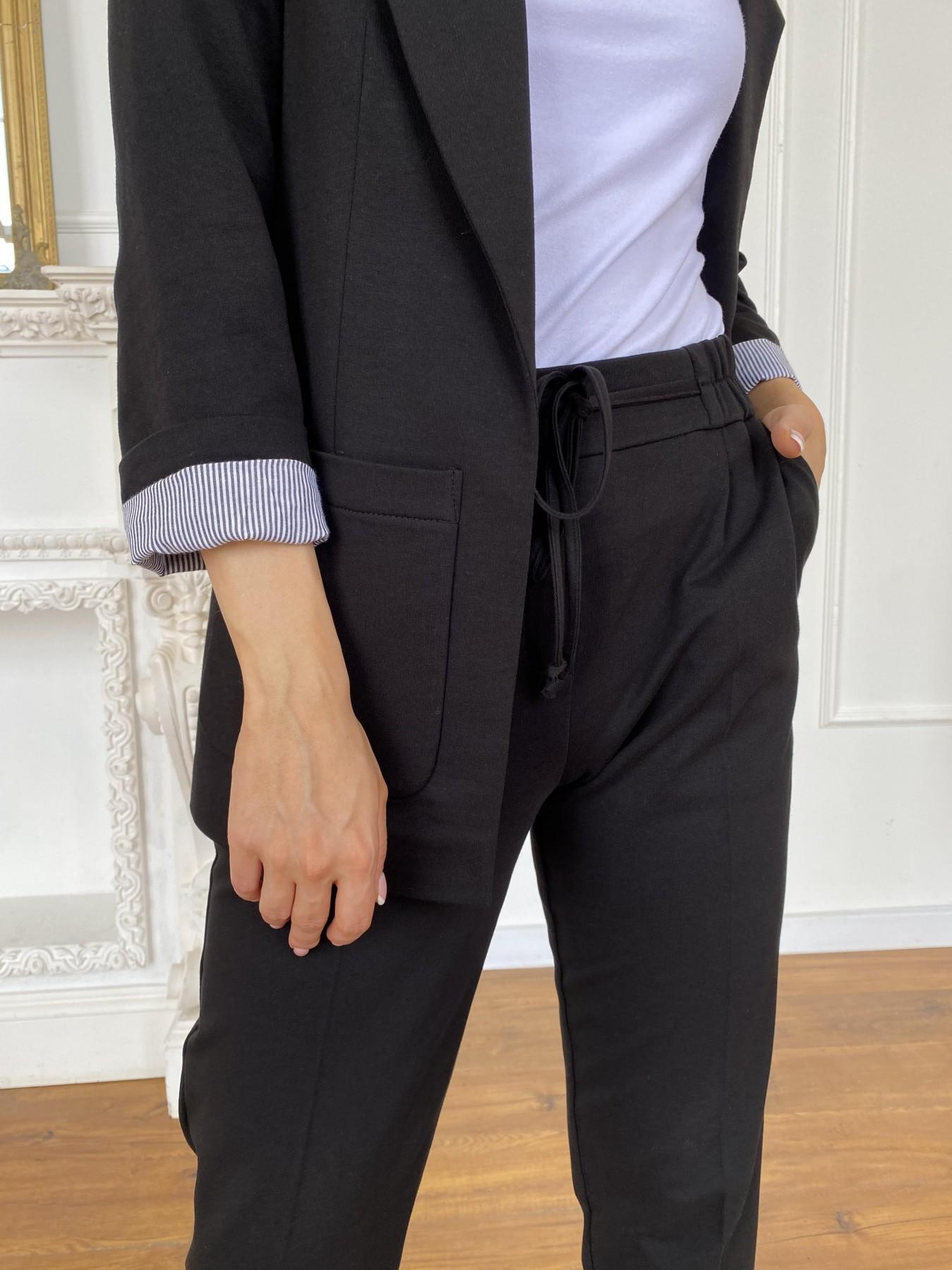 Империал костюм тонкий из  трикотажа двунитка 11572 АРТ. 48295 Цвет: Черный - фото 6, интернет магазин tm-modus.ru