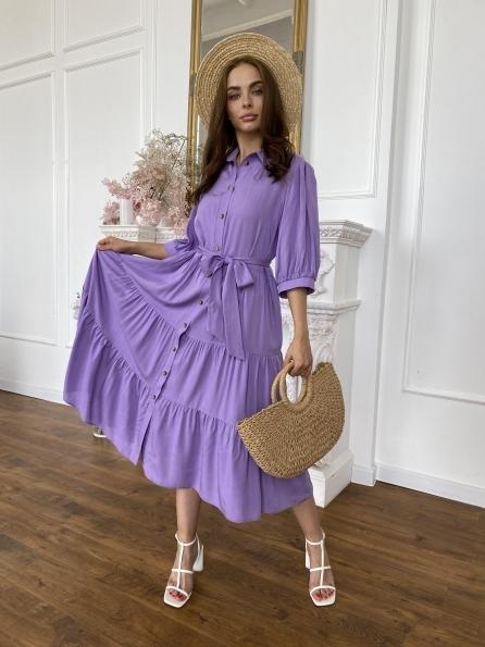 """Купити """"Коста Бланка"""" платье из льна и вискоза не стрейч 11521 оптом і в роздріб"""