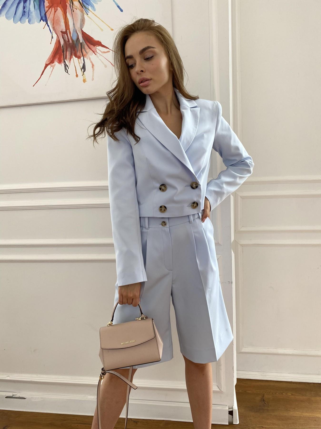 Оксфорд костюм из костюмной ткани стрейч 11548 АРТ. 48219 Цвет: Голубой - фото 1, интернет магазин tm-modus.ru