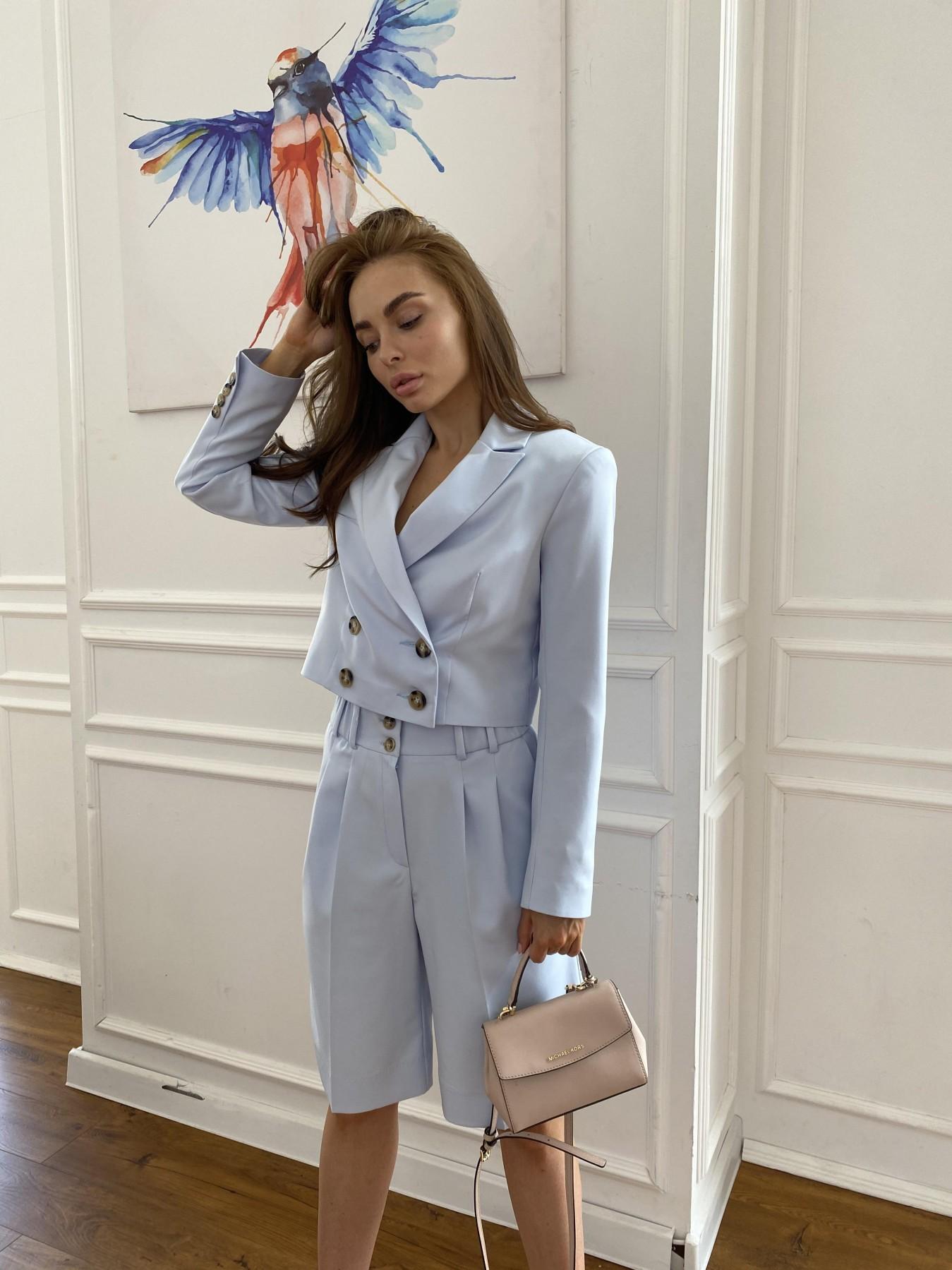 Оксфорд костюм из костюмной ткани стрейч 11548 АРТ. 48219 Цвет: Голубой - фото 4, интернет магазин tm-modus.ru