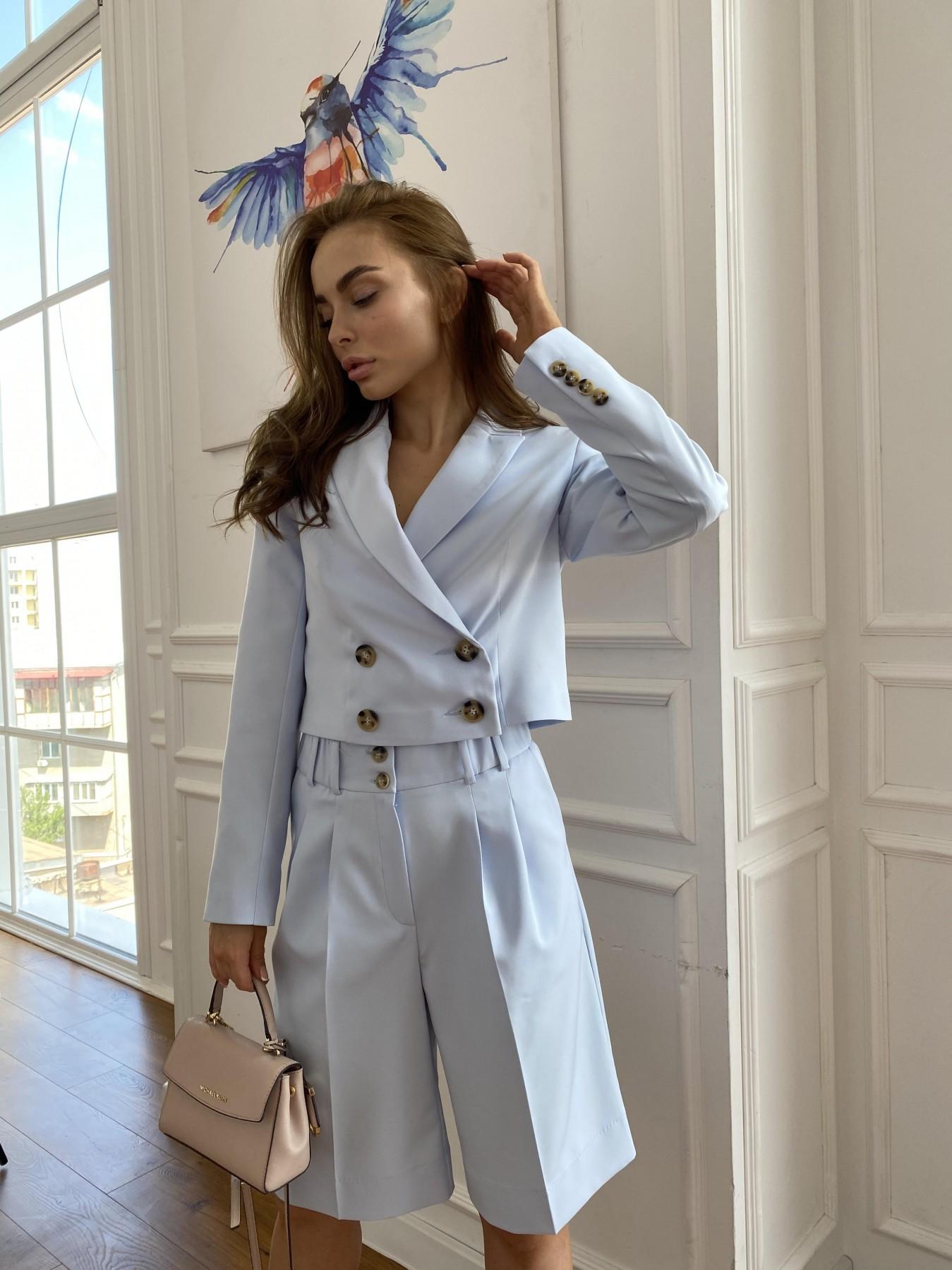 Оксфорд костюм из костюмной ткани стрейч 11548 АРТ. 48219 Цвет: Голубой - фото 5, интернет магазин tm-modus.ru