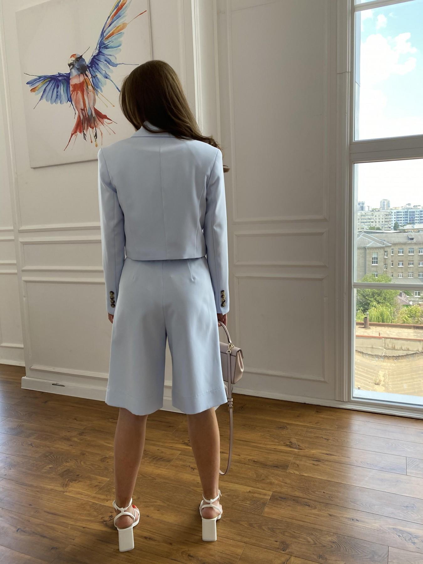 Оксфорд костюм из костюмной ткани стрейч 11548 АРТ. 48219 Цвет: Голубой - фото 6, интернет магазин tm-modus.ru