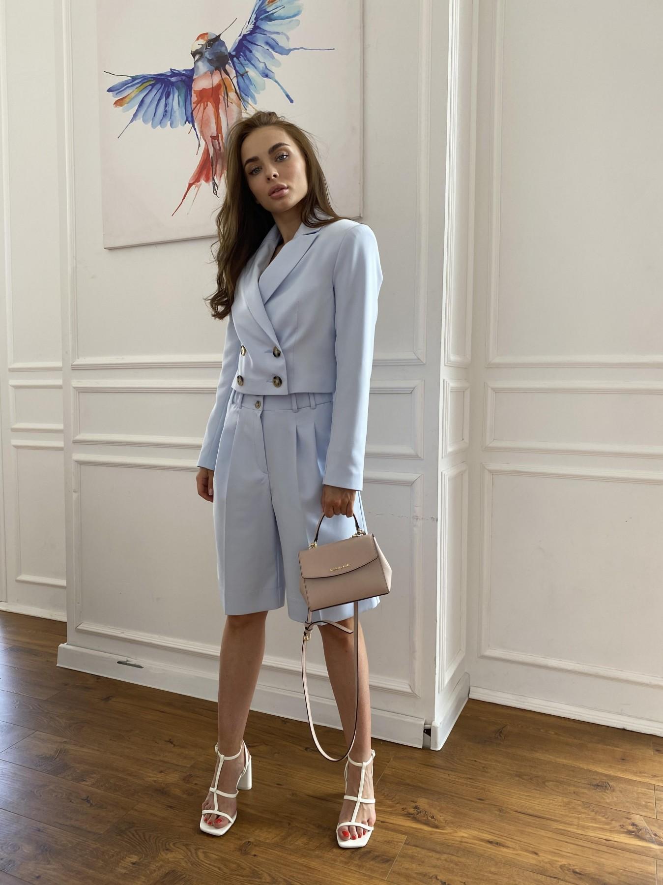 Оксфорд костюм из костюмной ткани стрейч 11548 АРТ. 48219 Цвет: Голубой - фото 7, интернет магазин tm-modus.ru