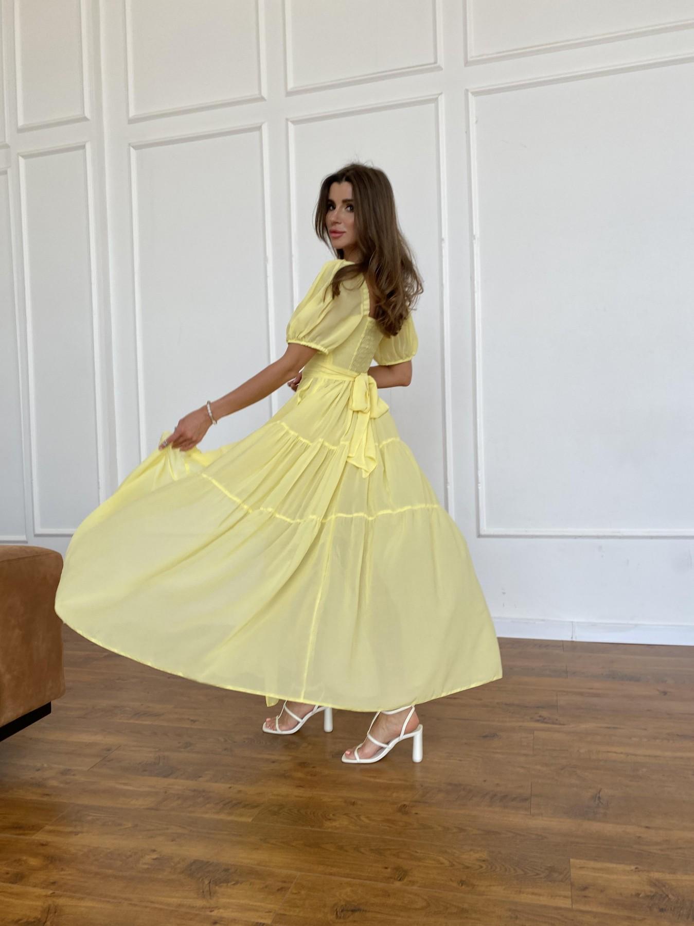 Сейшелы платье креп шифон 11519 АРТ. 48161 Цвет: Желтый - фото 5, интернет магазин tm-modus.ru
