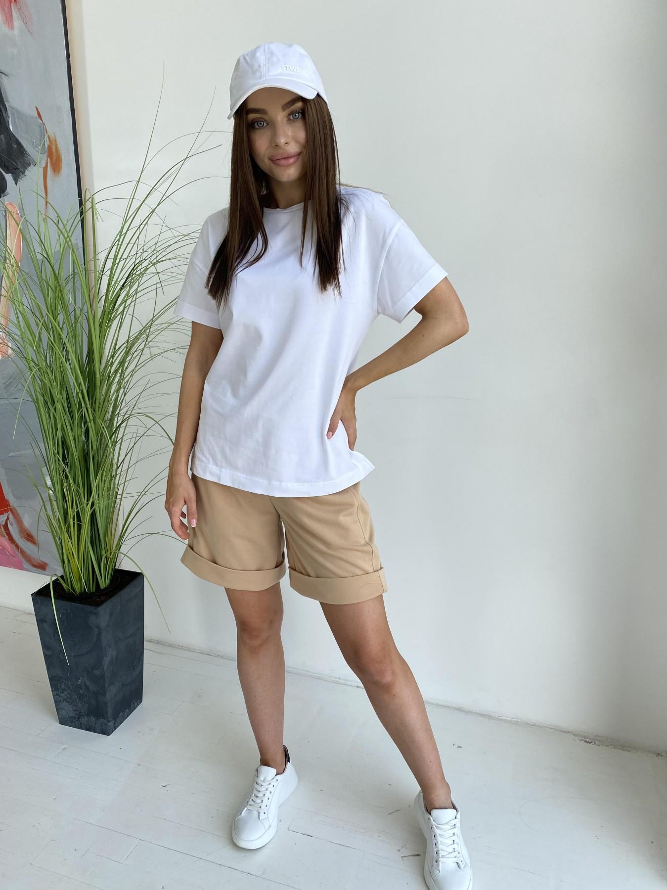 Фарт футболка из вискозы однотонная стрейч хлопок 11570 АРТ. 48285 Цвет: Белый - фото 3, интернет магазин tm-modus.ru