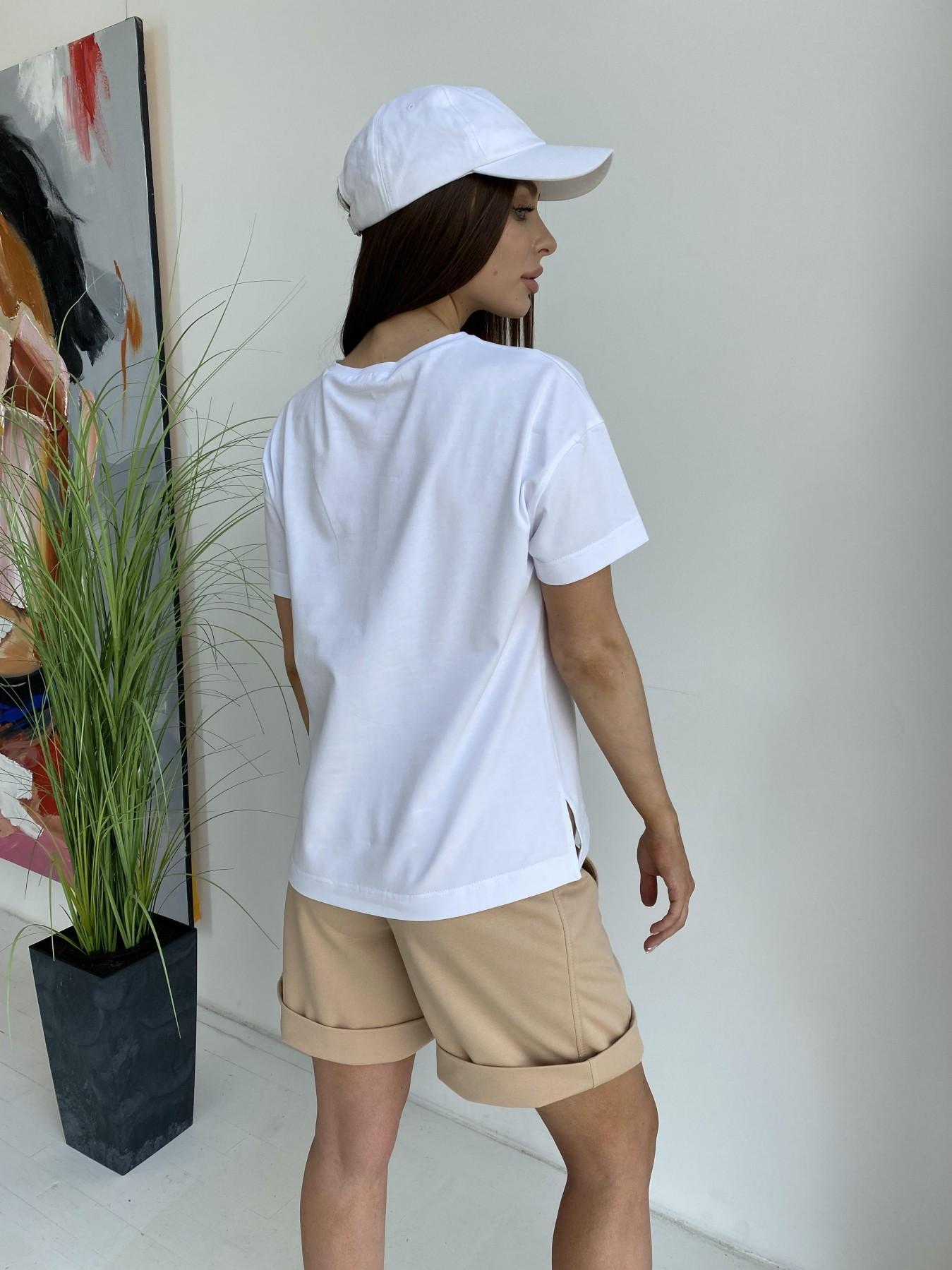 Фарт футболка из вискозы однотонная стрейч хлопок 11570 АРТ. 48285 Цвет: Белый - фото 5, интернет магазин tm-modus.ru