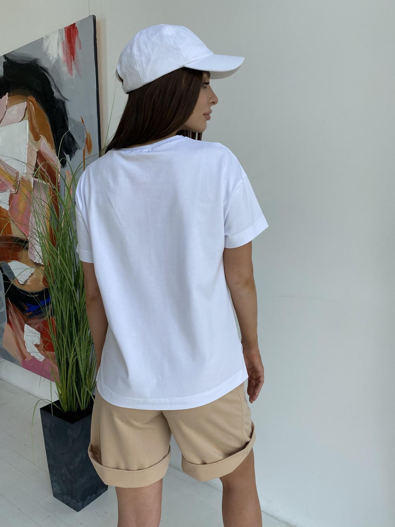 Фарт футболка из вискозы однотонная стрейч хлопок 11570 АРТ. 48285 Цвет: Белый - фото 6, интернет магазин tm-modus.ru