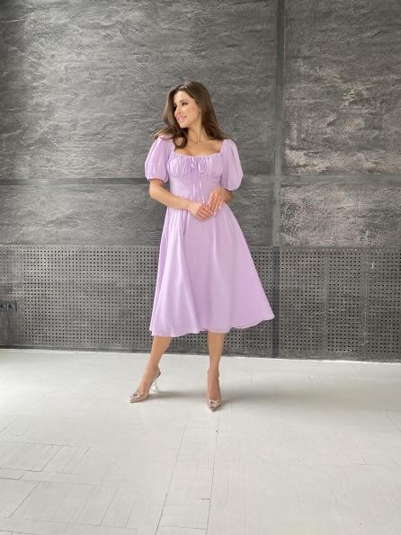 """Купить """"Кисес Миди"""" платье из шифона креп 11443 оптом и в розницу"""