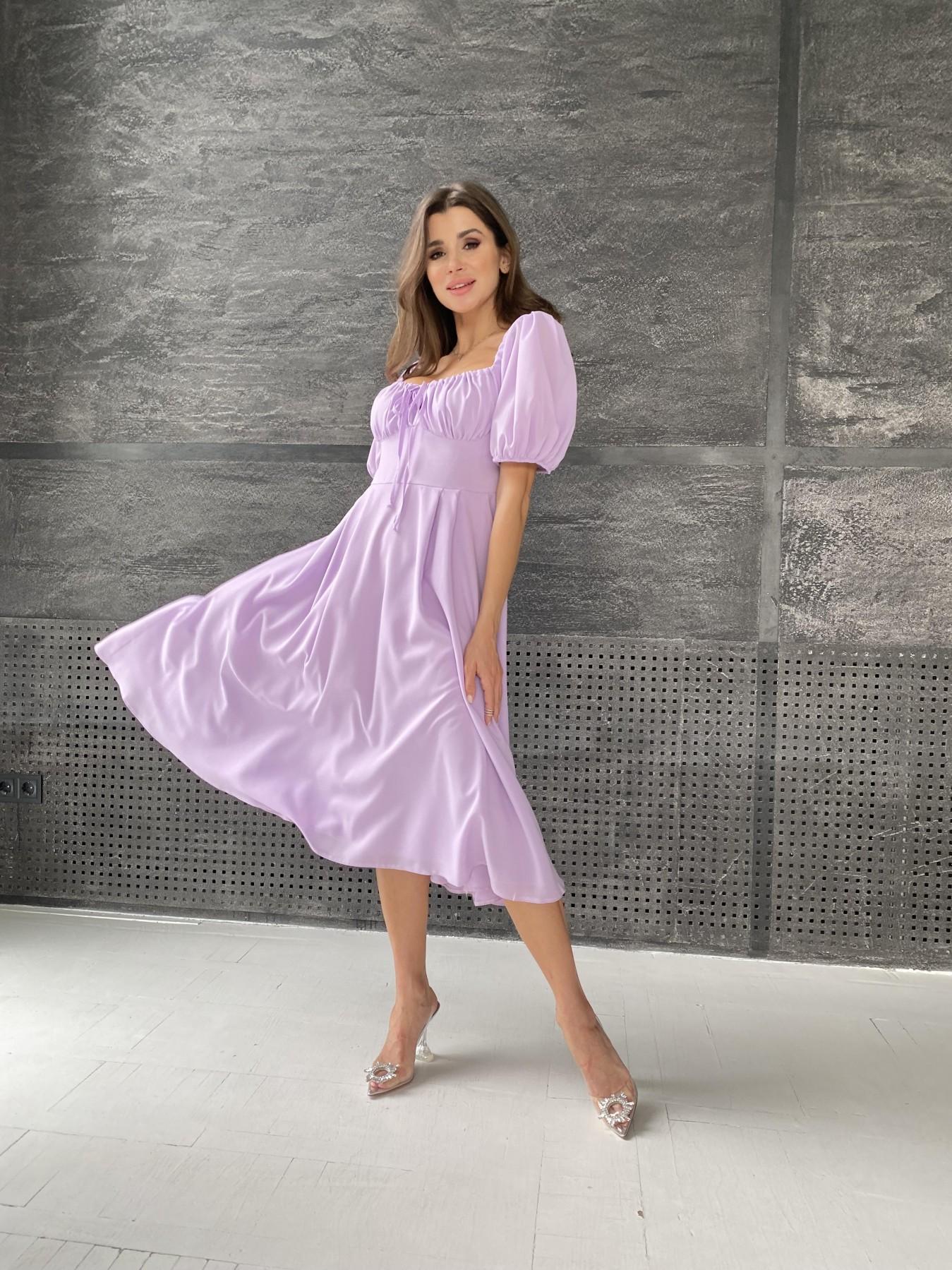 Купить платье в Харькове Кисес Миди платье из шифона креп 11443