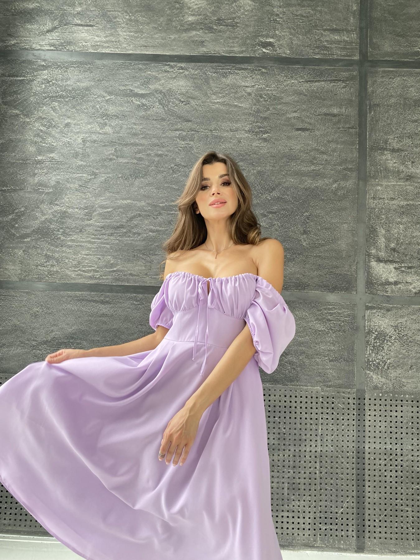Кисес Миди платье из шифона креп 11443 АРТ. 48311 Цвет: Лаванда - фото 9, интернет магазин tm-modus.ru