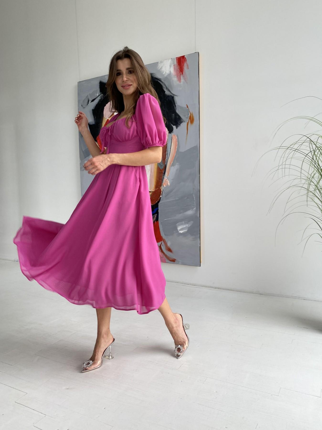Платье оптом от производителя Modus Кисес Миди платье шифон Микро однотонный 11603