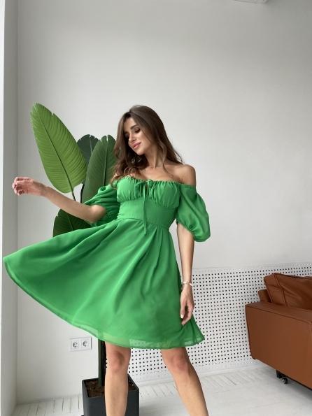 """Купити """"Кисес мини"""" платье  шифон однотонный 11628 оптом і в роздріб"""