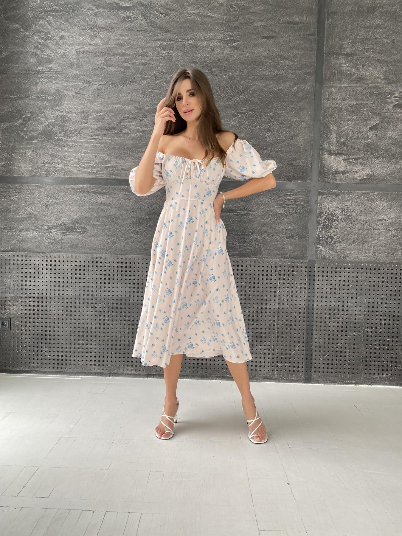 Платье оптом от производителя Modus Кисес Миди платье из софт ткани в принт 11348