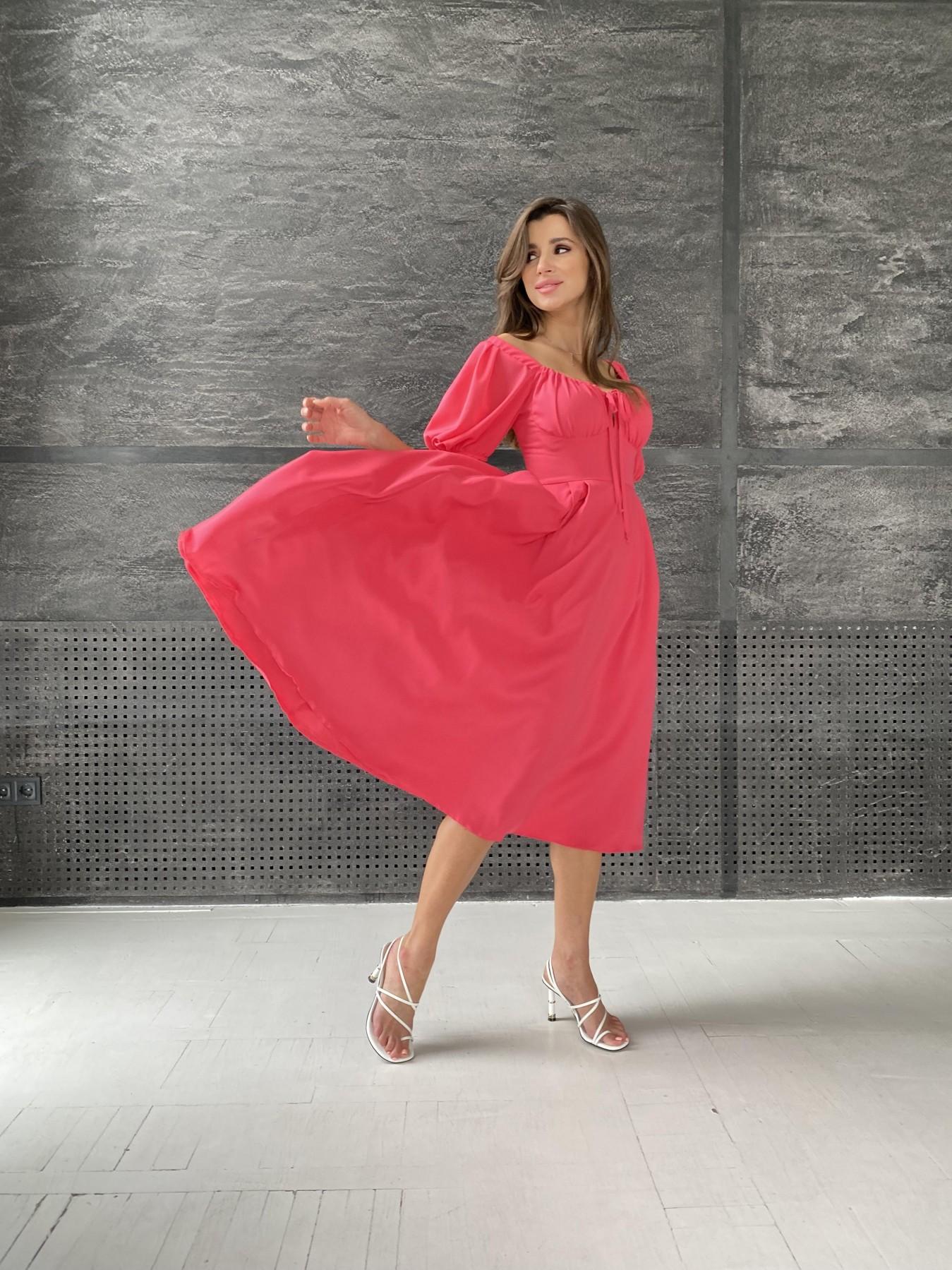 Платья от украинского производителя Кисес Миди платье из шифона креп 11443