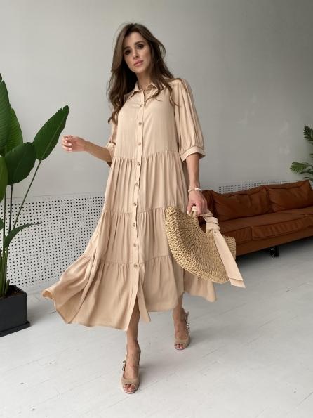 """Купить """"Коста Бланка"""" платье из льна и вискоза не стрейч 11521 оптом и в розницу"""