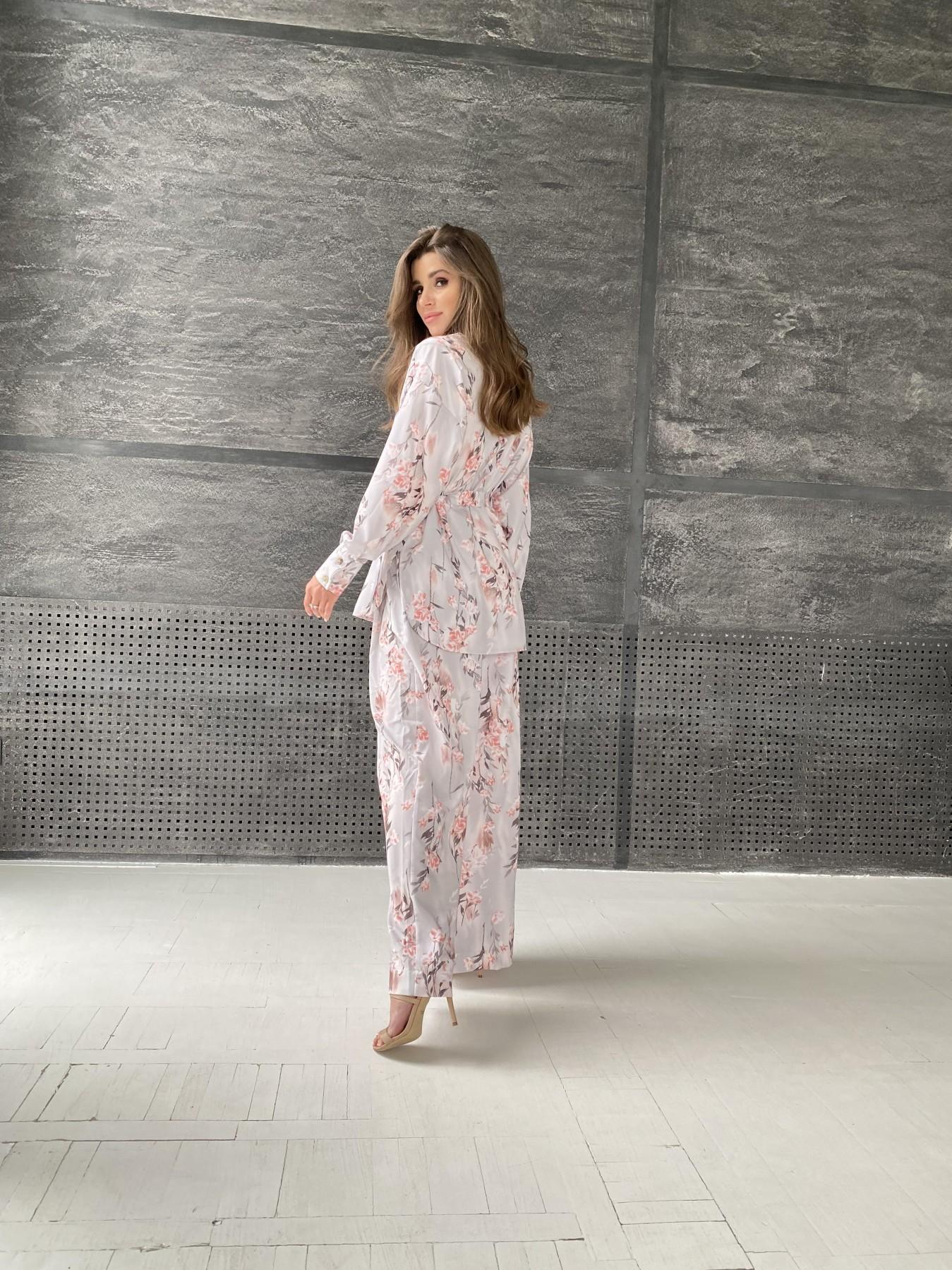 Колибри костюм софт с принтом 11244 АРТ. 48240 Цвет: Цветы на ветке серый/пудра - фото 4, интернет магазин tm-modus.ru