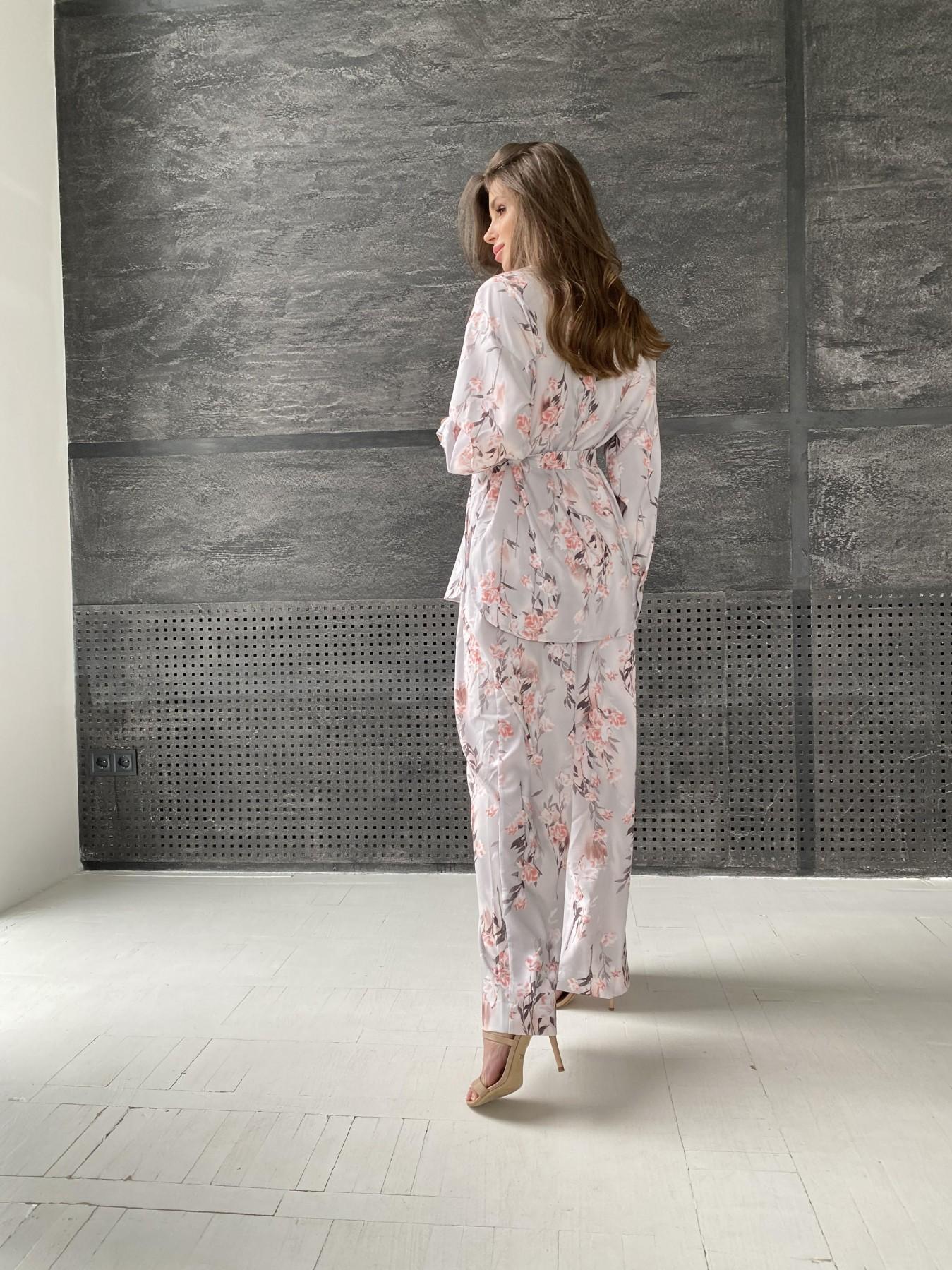 Колибри костюм софт с принтом 11244 АРТ. 48240 Цвет: Цветы на ветке серый/пудра - фото 5, интернет магазин tm-modus.ru