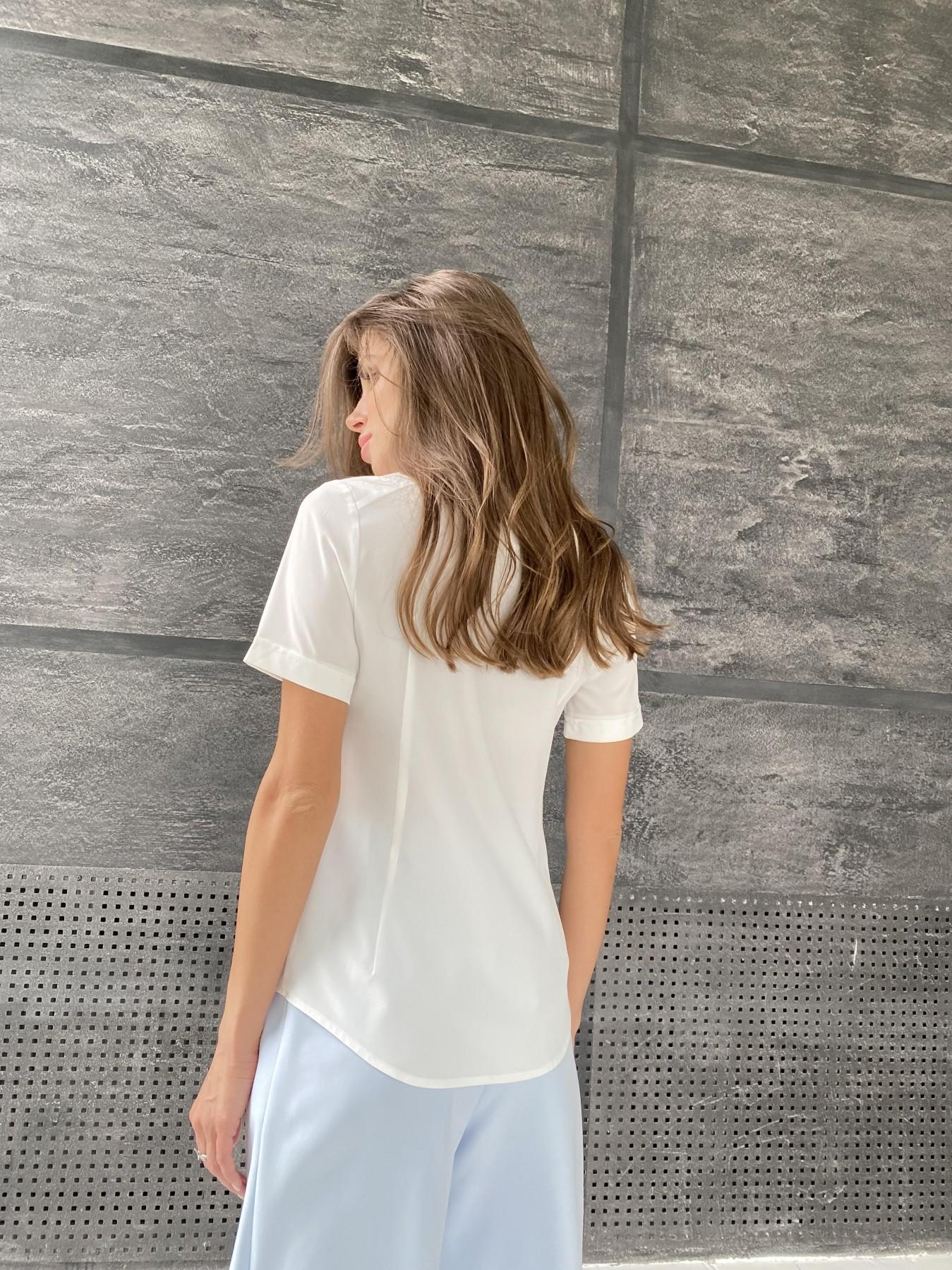 Дженна блуза  софт 11594 АРТ. 48274 Цвет: Белый - фото 2, интернет магазин tm-modus.ru