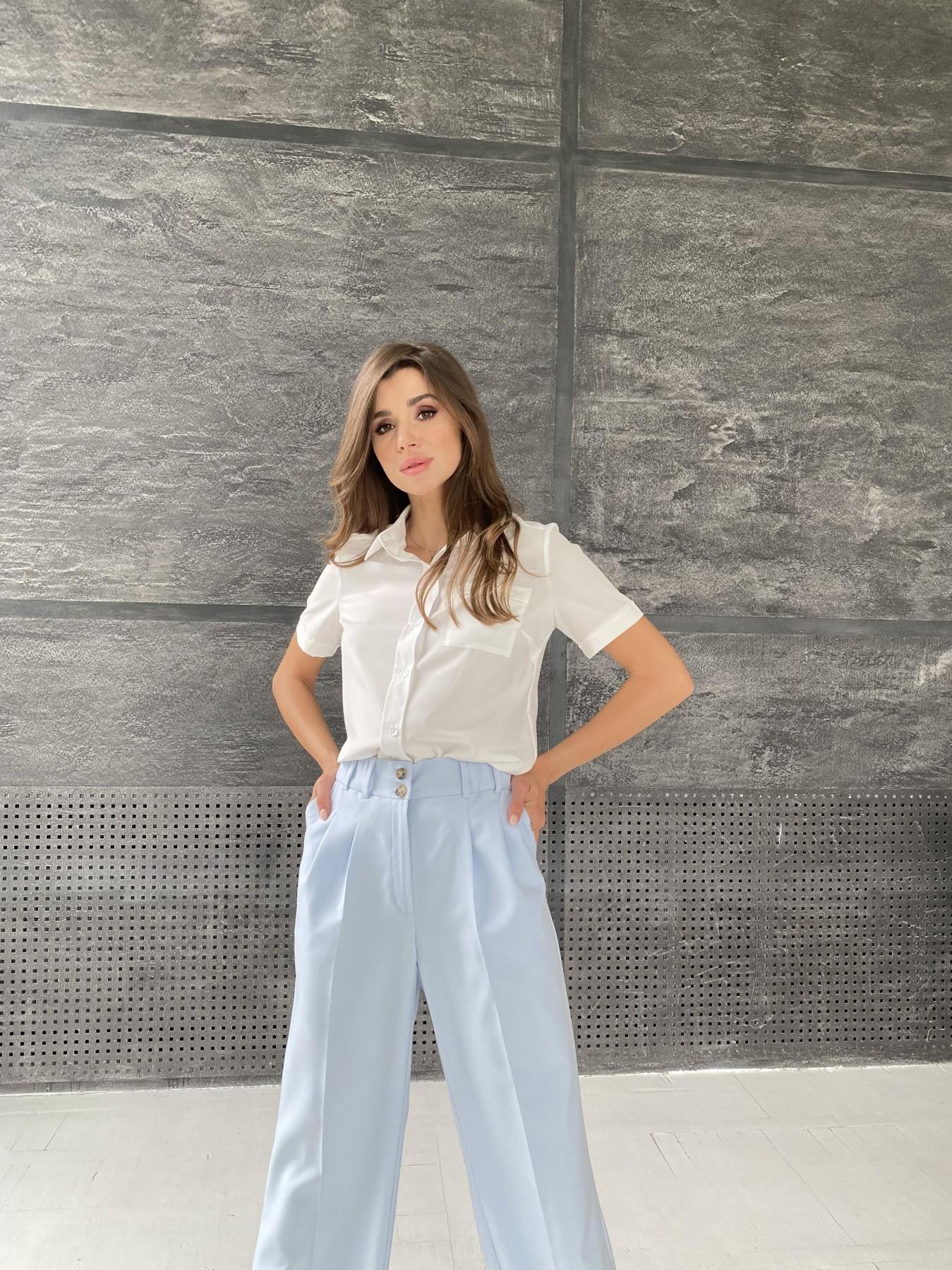 Дженна блуза  софт 11594 АРТ. 48274 Цвет: Белый - фото 4, интернет магазин tm-modus.ru
