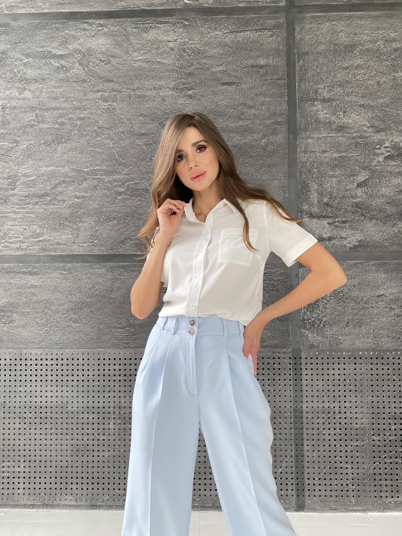 Дженна блуза  софт 11594 АРТ. 48274 Цвет: Белый - фото 6, интернет магазин tm-modus.ru