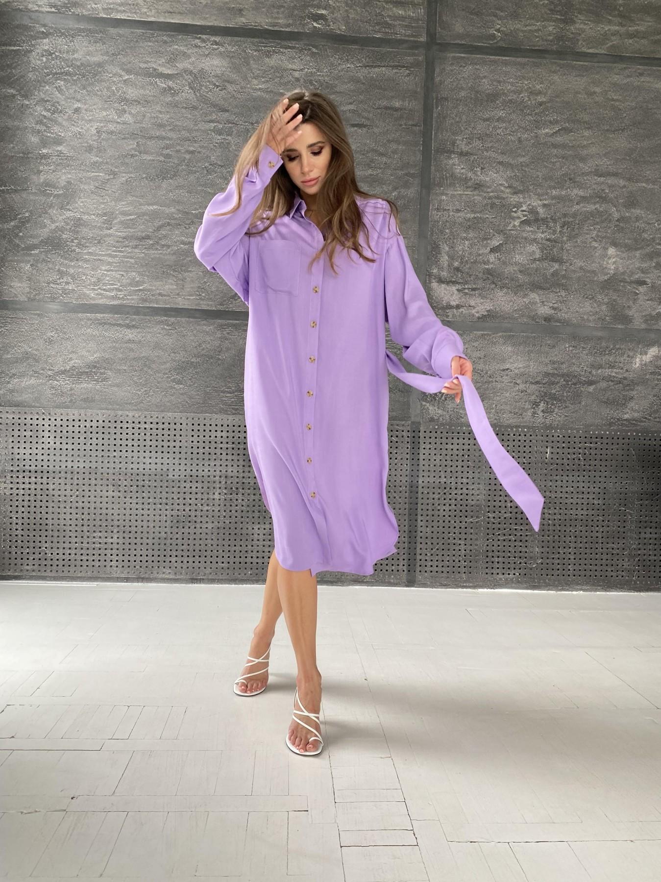 Сиэтл  рубашка миди лен вискоза не стрейч 11607 АРТ. 48288 Цвет: Лаванда - фото 1, интернет магазин tm-modus.ru