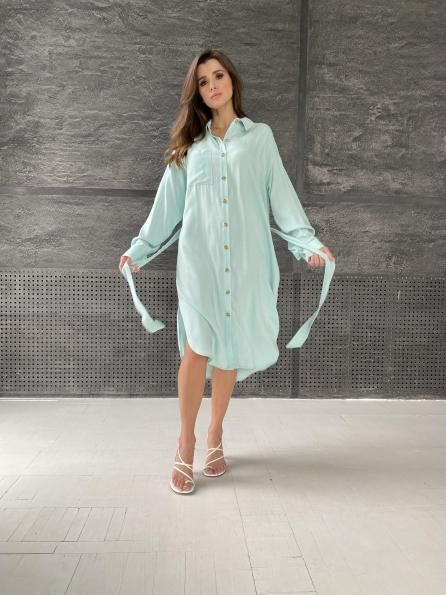 """Купить """"Сиэтл""""  рубашка миди лен вискоза не стрейч 11607 оптом и в розницу"""