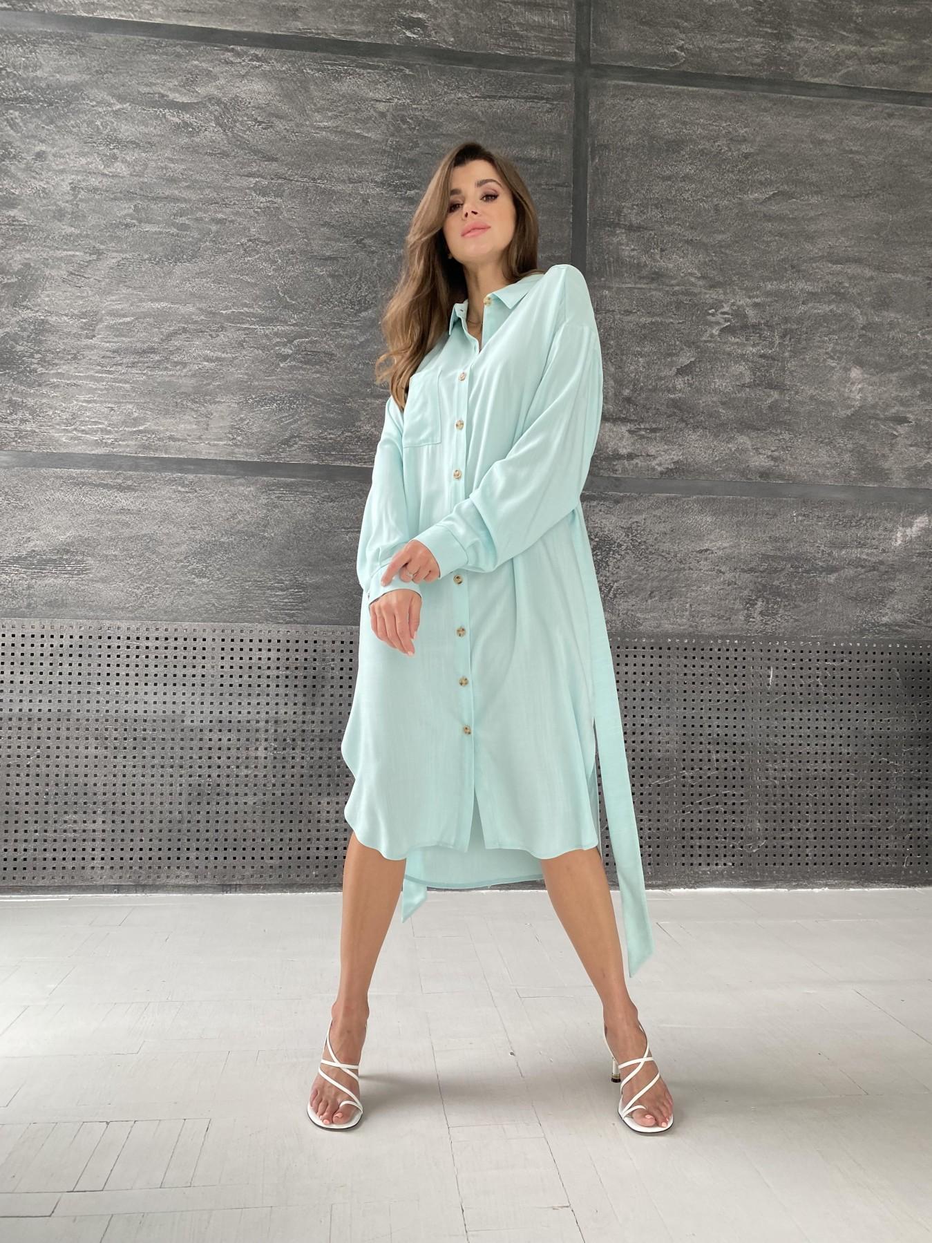 Женские рубашки оптом от производителя Сиэтл  рубашка миди лен вискоза не стрейч 11607