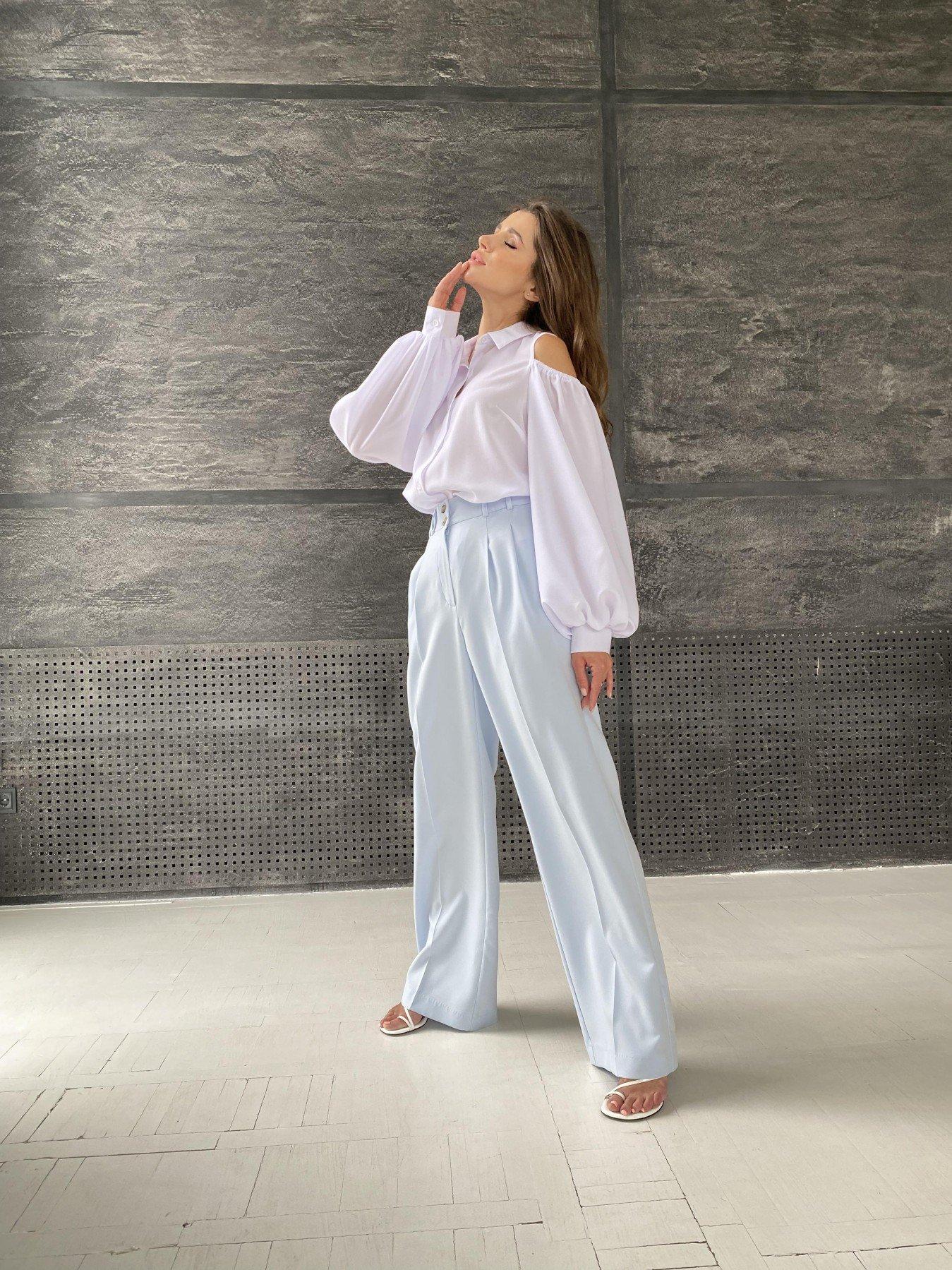 Адель блуза из креп креш шифона 11657 АРТ. 48371 Цвет: Белый - фото 5, интернет магазин tm-modus.ru