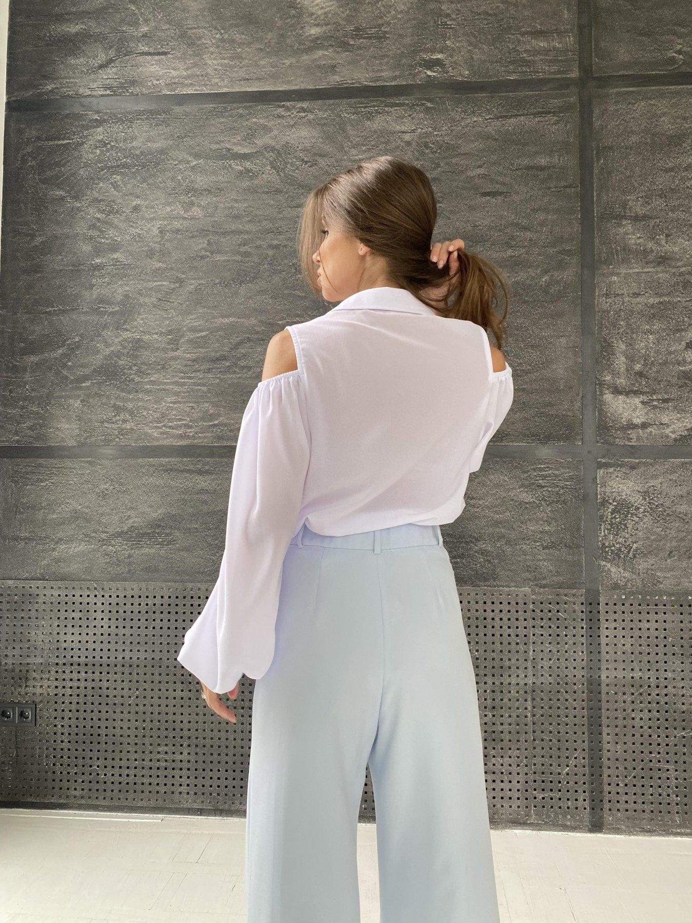 Адель блуза из креп креш шифона 11657 АРТ. 48371 Цвет: Белый - фото 7, интернет магазин tm-modus.ru