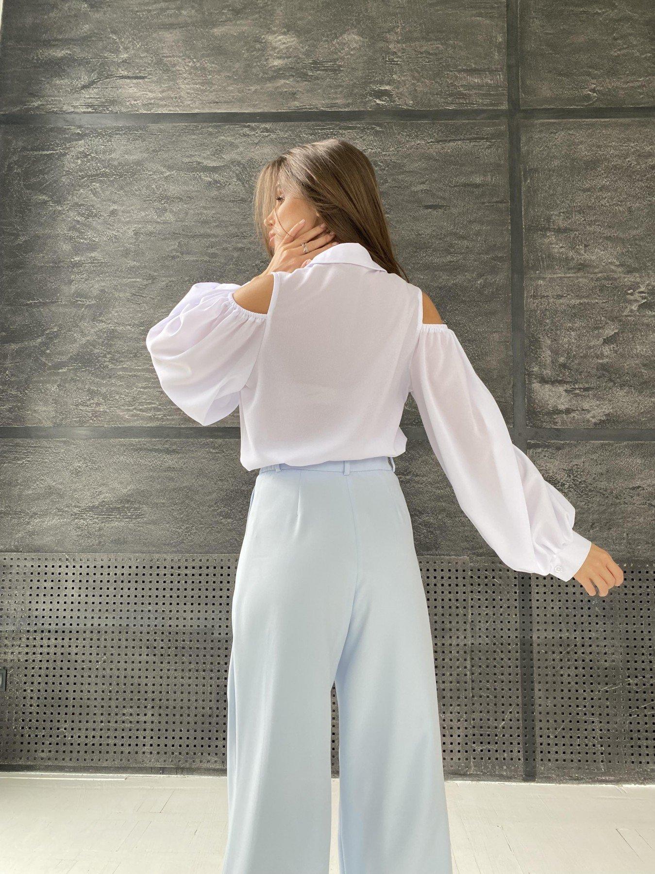 Адель блуза из креп креш шифона 11657 АРТ. 48371 Цвет: Белый - фото 8, интернет магазин tm-modus.ru