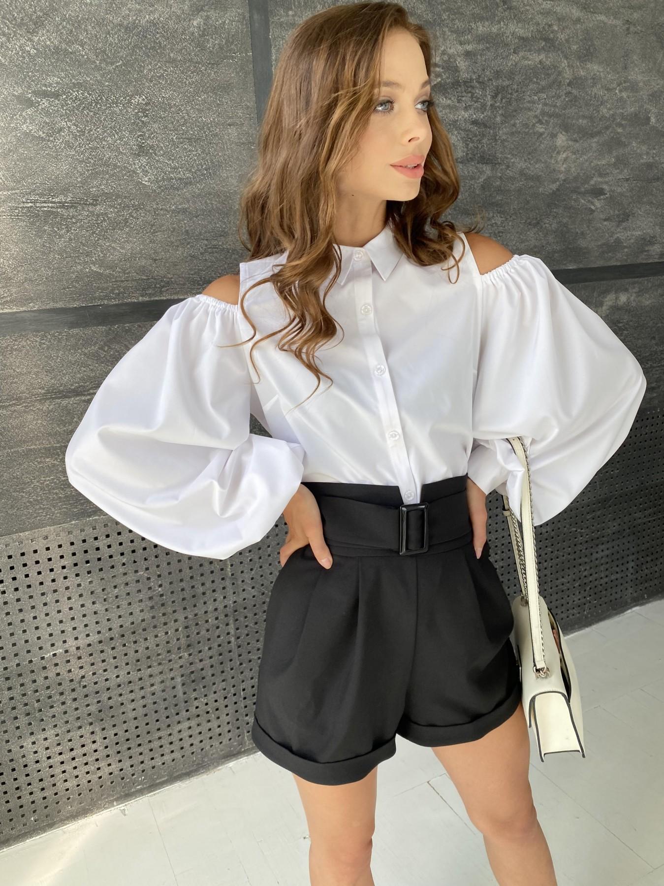 Адель блуза софт однотонный 11662 АРТ. 48373 Цвет: Белый - фото 4, интернет магазин tm-modus.ru