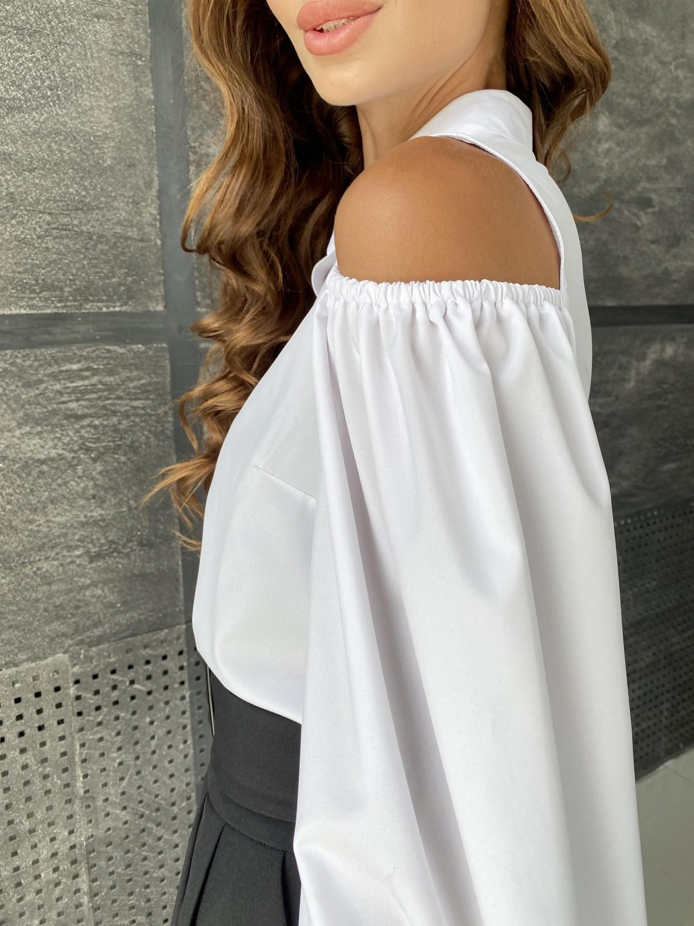 Адель блуза софт однотонный 11662 АРТ. 48373 Цвет: Белый - фото 6, интернет магазин tm-modus.ru