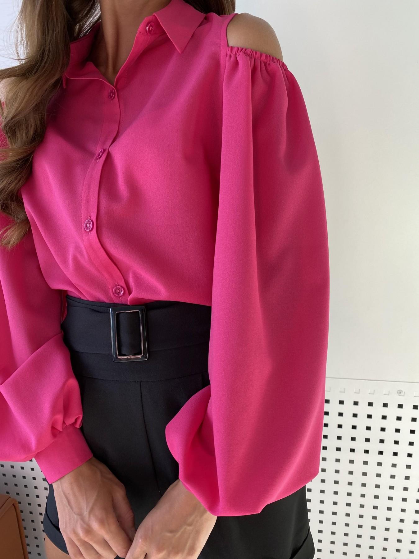 Адель блуза из креп креш шифона 11657 АРТ. 48372 Цвет: Малиновый - фото 2, интернет магазин tm-modus.ru