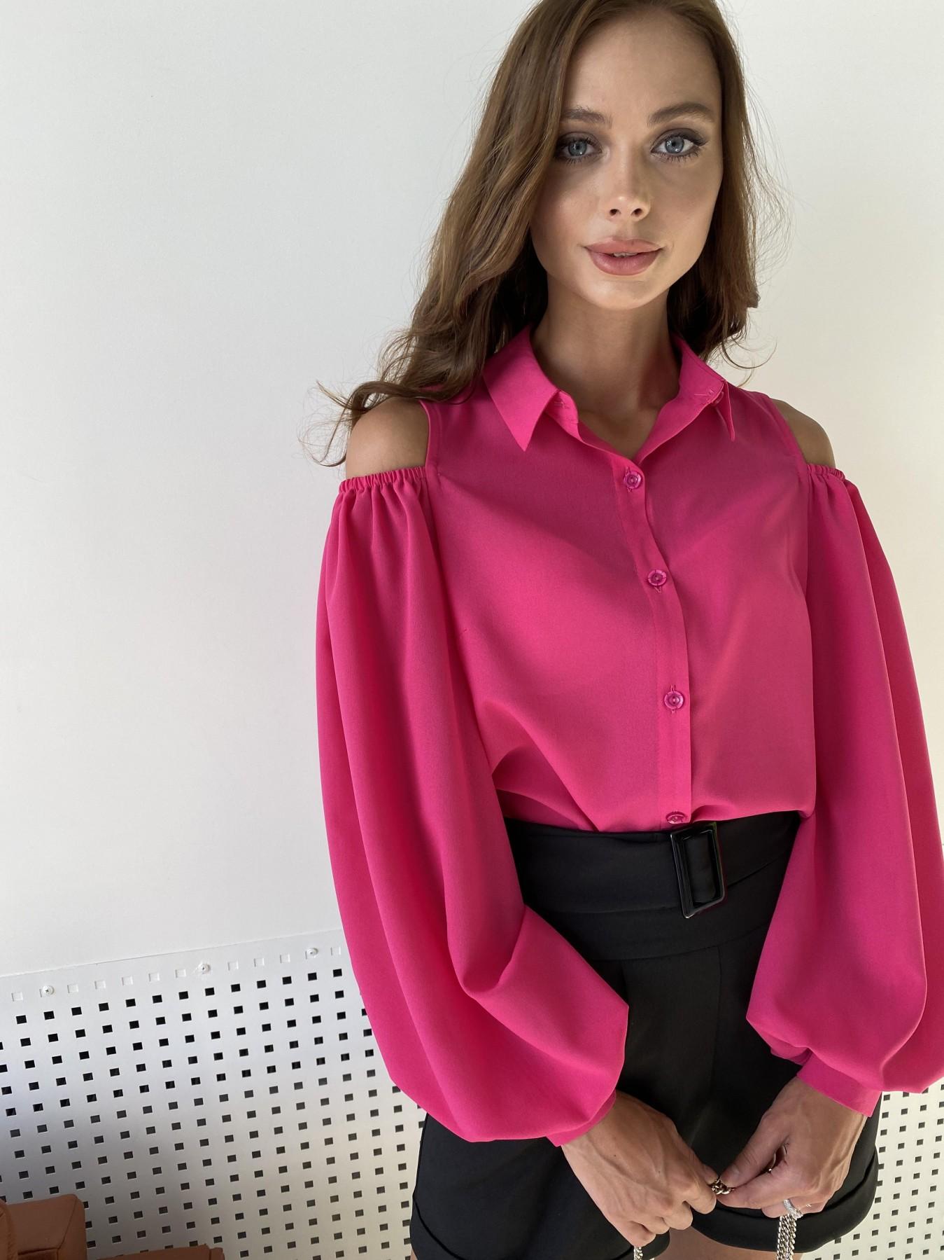 Адель блуза из креп креш шифона 11657 АРТ. 48372 Цвет: Малиновый - фото 5, интернет магазин tm-modus.ru