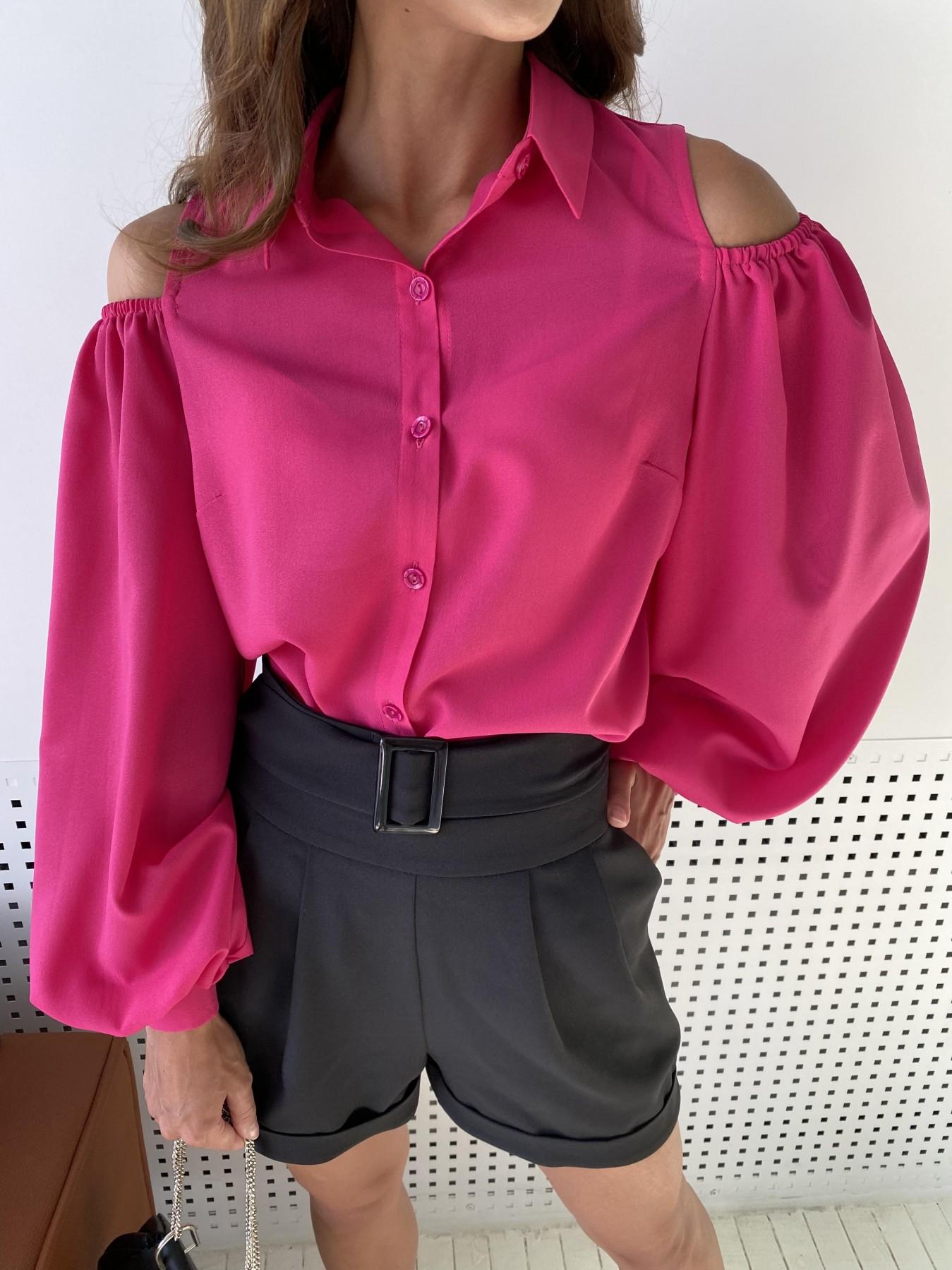 Адель блуза из креп креш шифона 11657 АРТ. 48372 Цвет: Малиновый - фото 6, интернет магазин tm-modus.ru