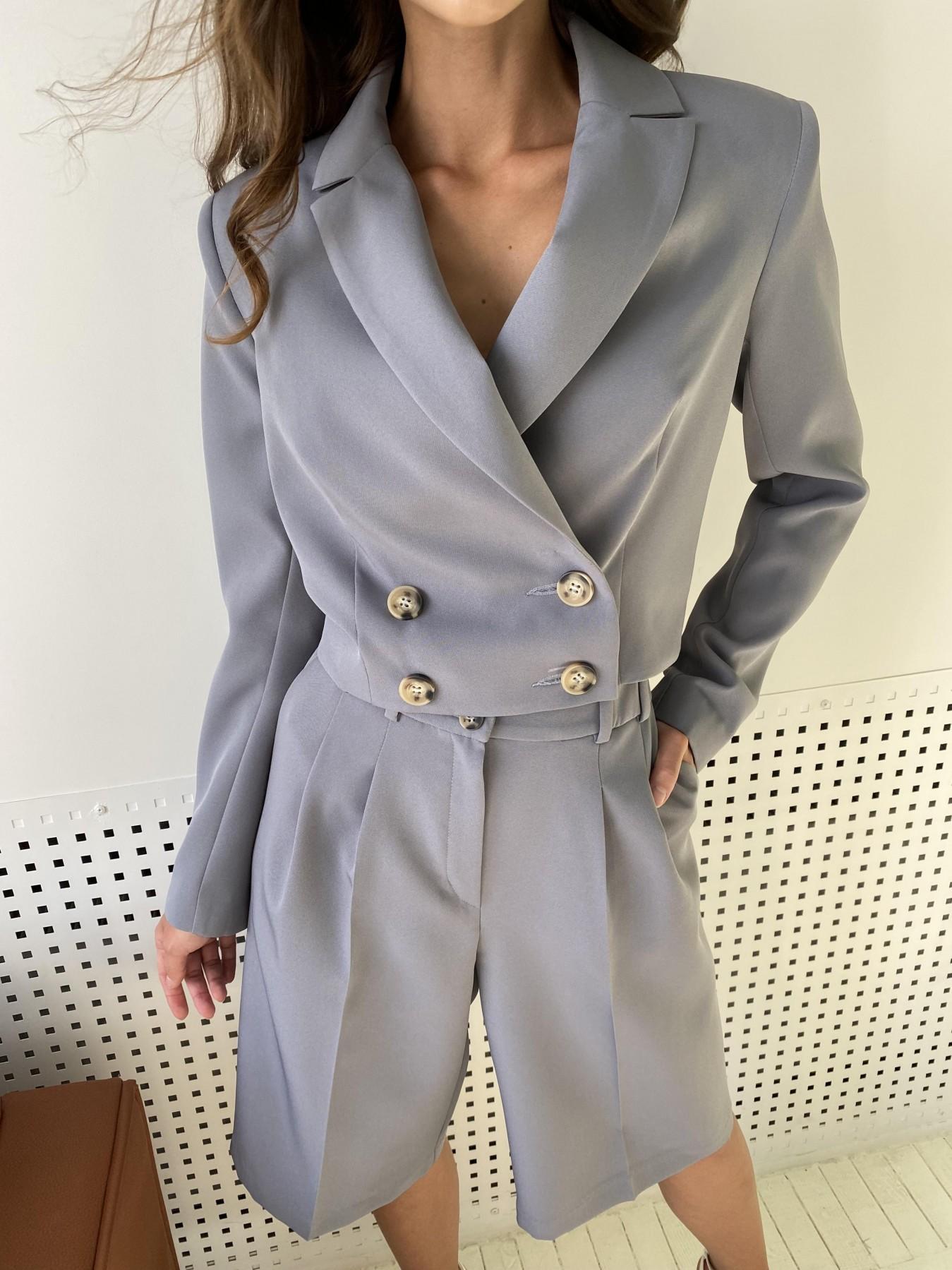 Оксфорд костюм из костюмной ткани стрейч 11548 АРТ. 48387 Цвет: Графит светлый - фото 1, интернет магазин tm-modus.ru