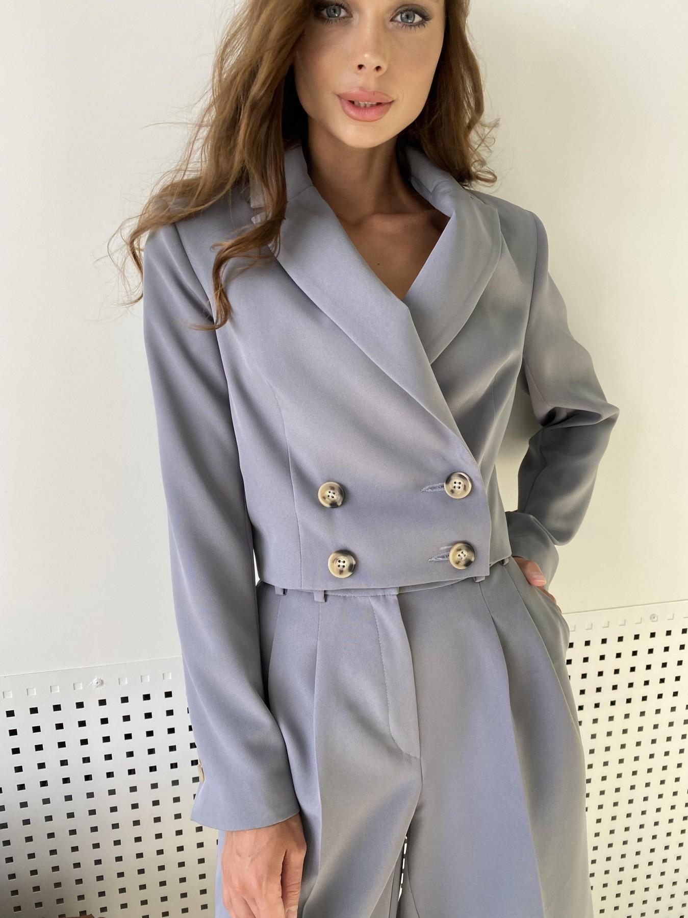 Оксфорд костюм из костюмной ткани стрейч 11548 АРТ. 48387 Цвет: Графит светлый - фото 2, интернет магазин tm-modus.ru