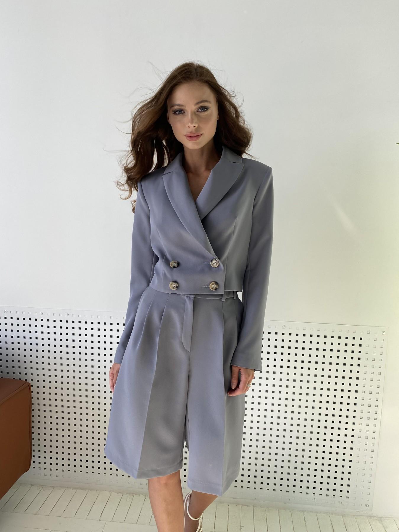 Оксфорд костюм из костюмной ткани стрейч 11548 АРТ. 48387 Цвет: Графит светлый - фото 6, интернет магазин tm-modus.ru