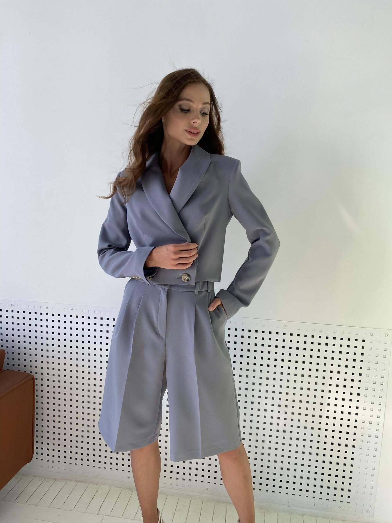 Оксфорд костюм из костюмной ткани стрейч 11548 АРТ. 48387 Цвет: Графит светлый - фото 8, интернет магазин tm-modus.ru