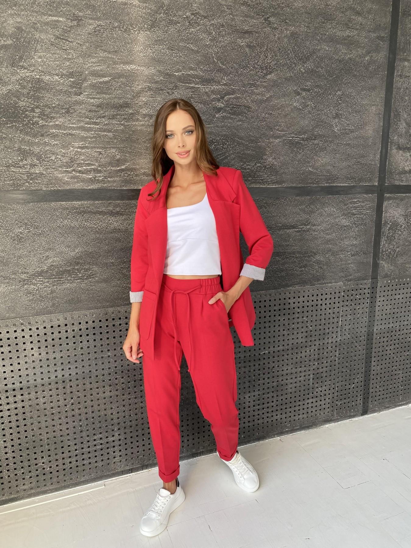 Империал костюм из  трикотажа двунитки 11572 АРТ. 48368 Цвет: Красный - фото 1, интернет магазин tm-modus.ru