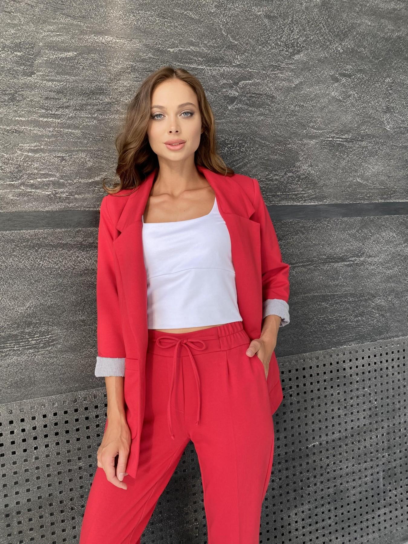 Империал костюм из  трикотажа двунитки 11572 АРТ. 48368 Цвет: Красный - фото 2, интернет магазин tm-modus.ru